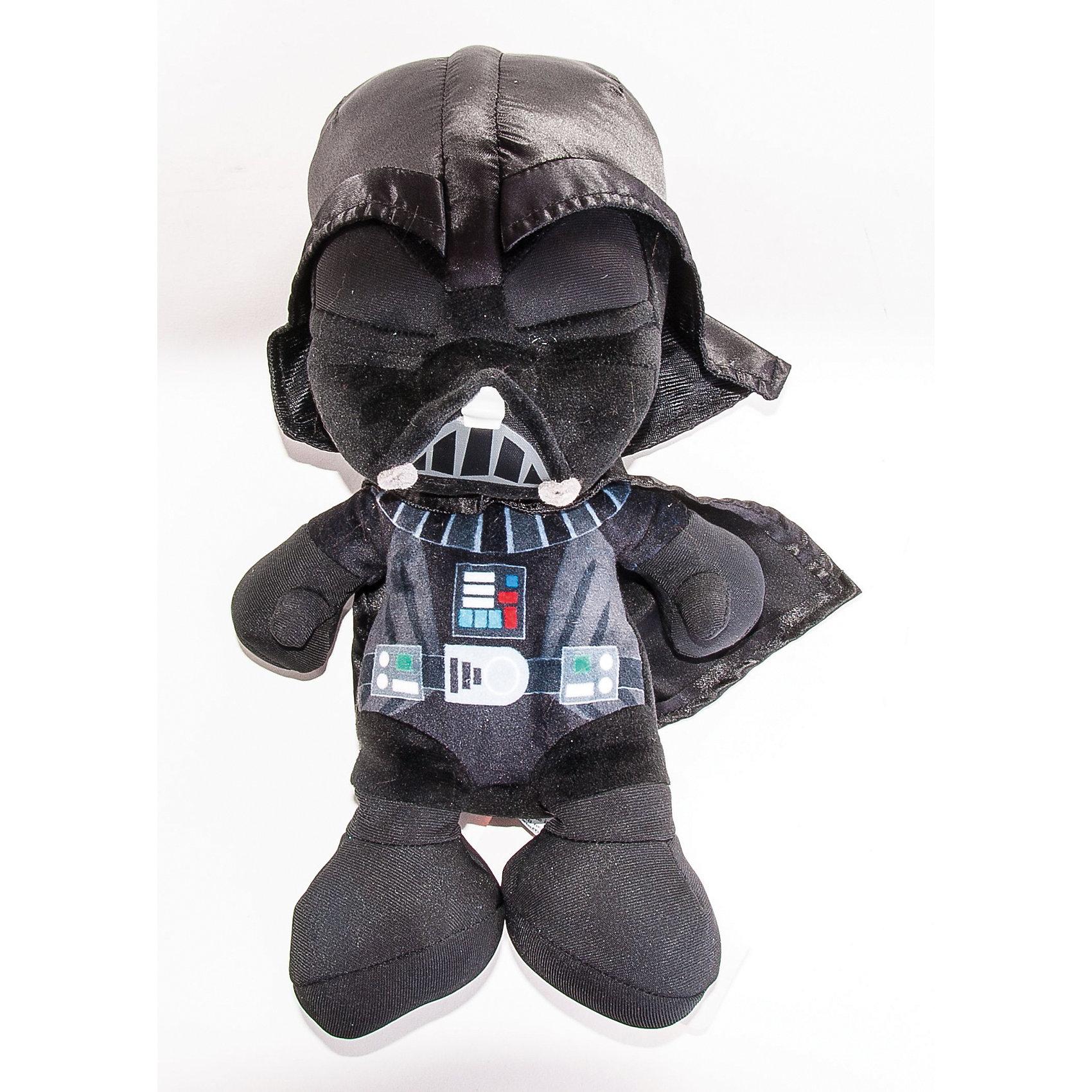 Мягкая игрушка Дарт Вейдер, 25 см, Звездные войныДарт Вейдер, Звездные войны  - оригинальная мягкая игрушка, которая станет приятным сюрпризом для детей любого возраста. Игрушка изображает грозного персонажа Дарта Вейдера из знаменитой киноэпопеи Звездные войны (Star Wars), но выполнена в мультипликационном стиле, что делает ее более забавной и совсем не страшной. Фигурка Дарта Вейдера очень мягкая и приятная на ощупь, с хорошо прошитыми элементами - панелью управления на груди, поясом и  защитной решеткой на шлеме. Изготовлена из качественных экологичных материалов и совершенно безопасна для детского здоровья. <br><br>Дополнительная информация:<br><br>- Материал: плюш, синтепон.<br>- Высота игрушки: 25 см.<br>- Размер упаковки: 15 х 28 х 15 см.<br>- Вес: 0,205 кг.<br><br>Мягкую игрушку Дарт Вейдер, Звездные войны, можно купить в нашем интернет-магазине.<br><br>Ширина мм: 120<br>Глубина мм: 220<br>Высота мм: 120<br>Вес г: 205<br>Возраст от месяцев: 36<br>Возраст до месяцев: 1188<br>Пол: Мужской<br>Возраст: Детский<br>SKU: 4302513