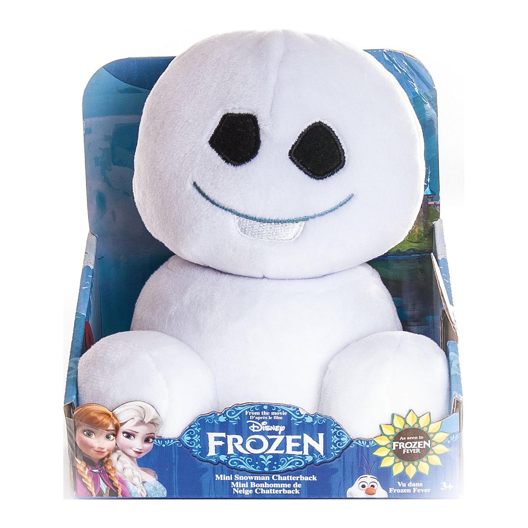 Мини-снеговичок, 20 см, Холодное сердцеОчаровательный Снеговичок - оригинальная мягкая игрушка, которая станет приятным сюрпризом для детей любого возраста. Снеговичок выполнен по мотивам популярного диснеевского мультфильма Холодное сердце (Frozen) и внешне очень похож на своего экранного персонажа, его угольные глазки и милая улыбка никого не оставят равнодушным. Игрушка очень мягкая и приятная на ощупь. Малыш с удовольствием будет обнимать и тискать забавного снеговичка и даже брать с собой в кровать, игрушка изготовлена из качественных экологичных материалов и совершенно безопасна для детского здоровья.  <br><br>Дополнительная информация:<br><br>- Материал: плюш, синтетический наполнитель.<br>- Высота игрушки: 20 см.<br>- Размер упаковки: 15 х 11 х 16 см.<br>- Вес: 0,205 кг.<br><br>Мини-снеговичка, Холодное сердце, Disney, можно купить в нашем интернет-магазине.<br><br>Ширина мм: 145<br>Глубина мм: 150<br>Высота мм: 100<br>Вес г: 307<br>Возраст от месяцев: 36<br>Возраст до месяцев: 192<br>Пол: Унисекс<br>Возраст: Детский<br>SKU: 4302516