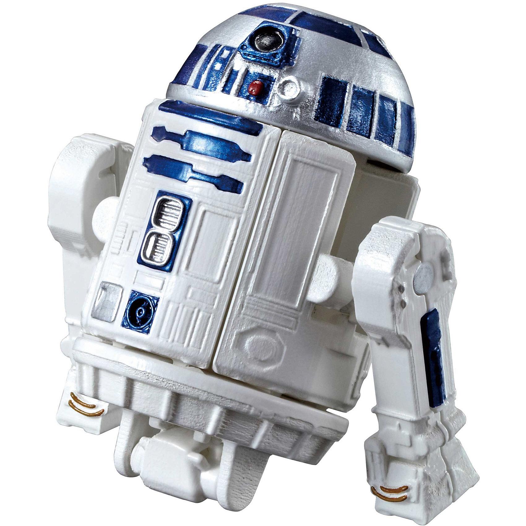 Яйцо-трансформер R2-D2, Звездные войныКоллекционные и игровые фигурки<br>Яйцо-трансформер R2-D2, Звездные войны  - оригинальная игрушка, которая станет приятным сюрпризом для всех поклонников знаменитой киноэпопеи Звездные войны (Star Wars). В наборе Вы найдете необычное яйцо, которое при помощи нескольких движений превращается в фигурку одного из популярных персонажей фильма - забавного робота-дроида R2-D2. Фигурка изготовлена из высококачественного белого пластика с характерными синими элементами, прекрасно детализирована, у нее вращающийся купол-голова и подвижные опоры-руки. В серии яиц-трансформеров от фирмы Bandai представлена целая галерея популярных персонажей Звездных войн, собранные вместе они составят оригинальную коллекцию.  <br><br>Дополнительная информация:<br><br>- Материал: пластик.<br>- Высота фигурки: 10 см.<br>- Размер упаковки: 12,5 х 17 х 5,5 см.<br>- Вес: 100 гр.<br><br>Яйцо-трансформер R2-D2, Звездные войны, Bandai, можно купить в нашем интернет-магазине.<br><br>Ширина мм: 125<br>Глубина мм: 170<br>Высота мм: 55<br>Вес г: 88<br>Возраст от месяцев: 60<br>Возраст до месяцев: 192<br>Пол: Мужской<br>Возраст: Детский<br>SKU: 4302523