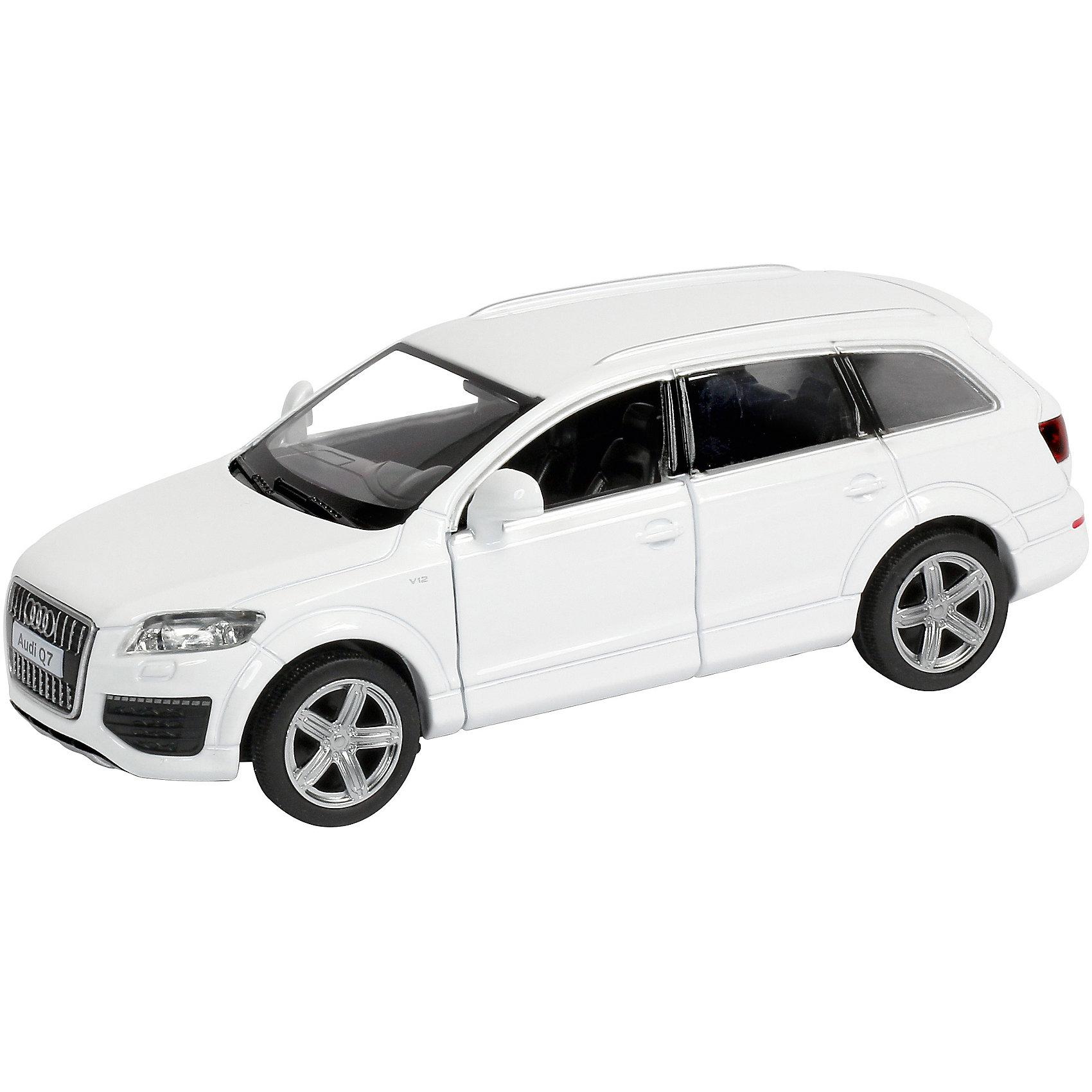 Машинка Audi Q7 V12, KRUTTIКоллекционные модели<br>Стильная и красивая модель, выполненная в масштабе 1:40 приведет в восторг любого мальчишку. Машина прекрасно детализирована, очень похожа на настоящую. Колеса свободно вращаются, двери открываются. Игрушка выполнена из высококачественных прочных материалов. Автомобиль займет достойное место в коллекции вашего юного автолюбителя.  <br><br>Дополнительная информация:<br><br>- Масштаб: 1:40.<br>- Материал: металл, пластик, резина. <br>- Размер: 13,5х5,2х4,5 см.<br>- Функции: свободный ход колес, открывающиеся двери.<br><br>Машинку Audi Q7 V12, KRUTTI (Крутти), можно купить в нашем магазине.<br><br>Ширина мм: 170<br>Глубина мм: 70<br>Высота мм: 70<br>Вес г: 228<br>Возраст от месяцев: 36<br>Возраст до месяцев: 168<br>Пол: Мужской<br>Возраст: Детский<br>SKU: 4304451