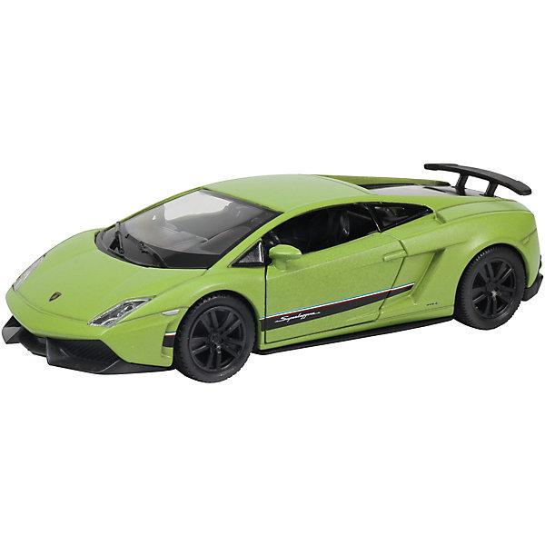 Машинка Lamborghini Gallardo, KRUTTIМашинки<br>Невероятно стильная и красивая модель, выполненная в масштабе 1:36 займет достойное место в коллекции вашего юного автолюбителя. Машина прекрасно детализирована, очень похожа на настоящую. Игрушка выполнена из высококачественных прочных материалов. Свободный ход колес, открывающиеся двери, матовый кузов приведут в восторг любого мальчишку!<br><br>Дополнительная информация:<br><br>- Масштаб: 1:36.<br>- Материал: металл, пластик, резина. <br>- Размер: 12,5х5,3х3 см.<br>- Функции: свободный ход колес, открывающиеся двери.<br><br>Машинку Lamborghini Gallardo, KRUTTI (Крутти), можно купить в нашем магазине.<br>Ширина мм: 160; Глубина мм: 80; Высота мм: 70; Вес г: 178; Возраст от месяцев: 36; Возраст до месяцев: 168; Пол: Мужской; Возраст: Детский; SKU: 4304456;