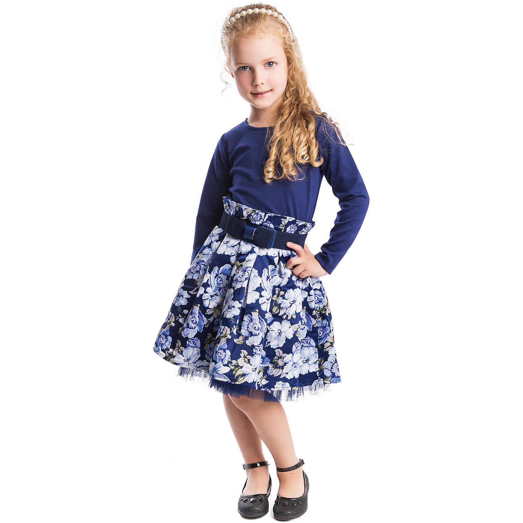 Платье PlayTodayОдежда<br>Платье PlayToday <br><br>Состав: <br>Верх: 66% вискоза, 29% полиэстер, 5% эластан, <br>Юбка: 100% полиэстер, <br>Подкладка: 100% хлопок <br><br>Женственное платье с пышной цветочной юбкой. <br>Материал легкий и скользящий, внутри хлопковая подкладка. <br>Воротничок с жемчужными бусами и пояс с бантом дополнят образ. <br>У платья длинные рукава и удобная застежка-молния.<br><br>Ширина мм: 236<br>Глубина мм: 16<br>Высота мм: 184<br>Вес г: 177<br>Цвет: синий<br>Возраст от месяцев: 24<br>Возраст до месяцев: 36<br>Пол: Женский<br>Возраст: Детский<br>Размер: 98,128,110,122,116,104<br>SKU: 4305425