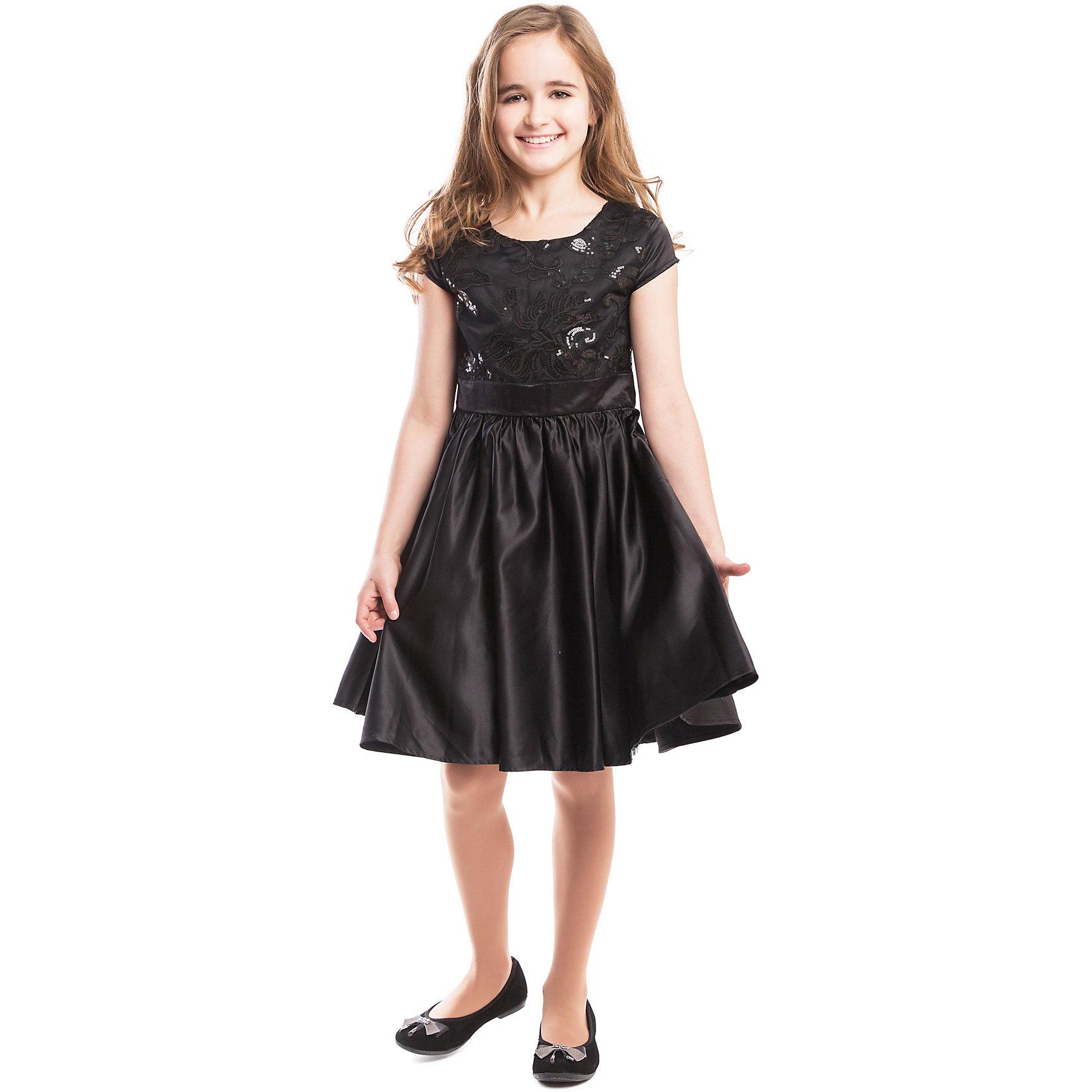 Платье ScoolПлатье Scool <br><br>Состав: <br>Верх: 100% полиэстер, <br>Подкладка: 100% хлопок <br><br>Маленькое черное платье должно быть у каждой девушки, вне зависимости от возраста. <br>Оно подойдет к любой обуви и не будет быстро пачкаться. <br>Верх украшен узорами из пайеток. <br>Есть подкладка из мягкого хлопка. <br>Рукава короткие - ребенку не будет жарко на празднике. <br>Сзади удобная застежка-молния.<br><br>Ширина мм: 236<br>Глубина мм: 16<br>Высота мм: 184<br>Вес г: 177<br>Цвет: черный<br>Возраст от месяцев: 156<br>Возраст до месяцев: 168<br>Пол: Женский<br>Возраст: Детский<br>Размер: 164,134,152,158,146,140<br>SKU: 4305460