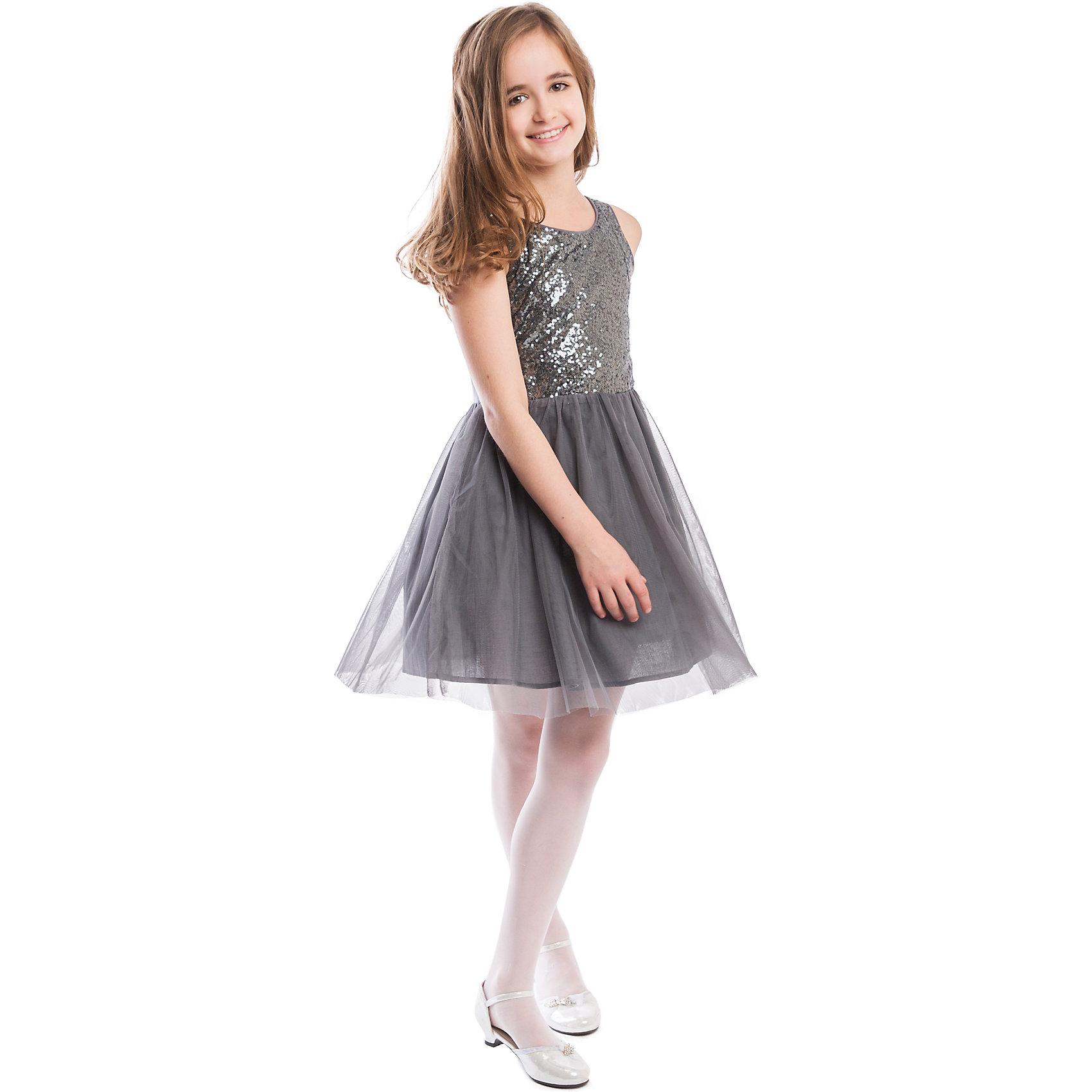 Платье ScoolПлатье Scool <br><br>Состав: <br>Верх: 66% вискоза, 29% полиэстер, 5% эластан, <br>Юбка: 100% полиэстер, <br>Подкладка: 100% хлопок <br><br>Серебристое платье с пайетками в стиле 70-х. <br>Стиль диско появился во времена открытия космоса, платья стали сверкать и переливаться, как звезды. <br>Платье без рукавов, ребенку не будет жарко, даже если ходить в нем целый день. <br>Внутри мягкая хлопковая подкладка.<br><br>Ширина мм: 236<br>Глубина мм: 16<br>Высота мм: 184<br>Вес г: 177<br>Цвет: серый<br>Возраст от месяцев: 132<br>Возраст до месяцев: 144<br>Пол: Женский<br>Возраст: Детский<br>Размер: 140,158,164,134,146,152<br>SKU: 4305481