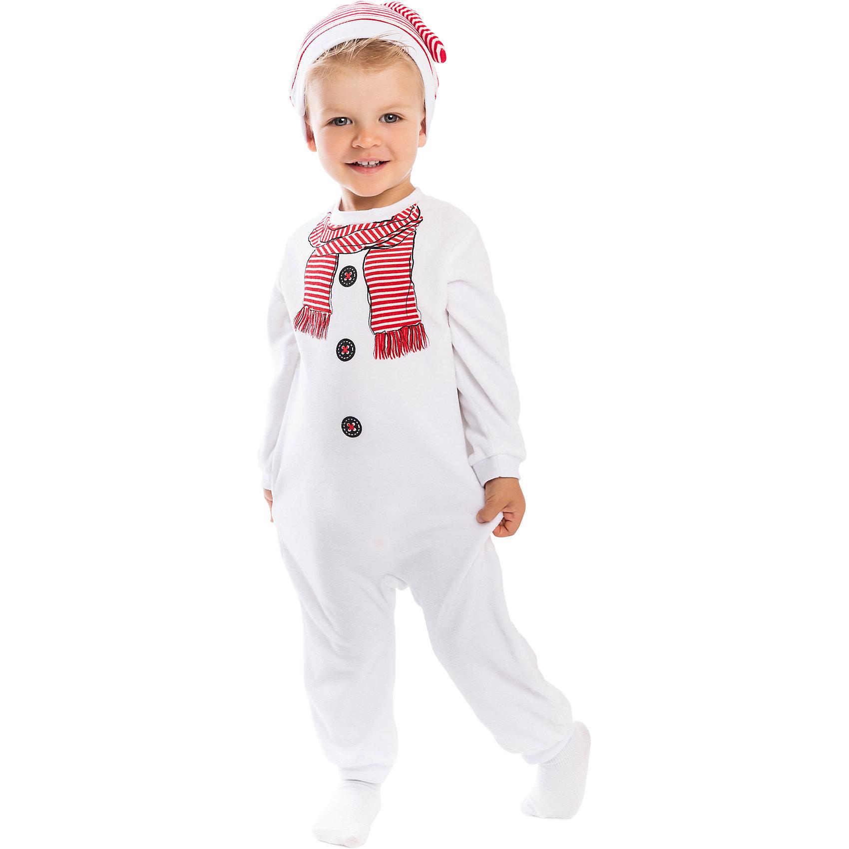 Комбинезон для мальчика PlayTodayКомбинезон для мальчика PlayToday <br><br>Состав: 80% хлопок, 20% полиэстер <br><br>Малыш будет выглядеть мило и забавно в мягком костюме снеговичка. <br>Он порадует и ребенка, и родителей. <br>Сзади удобные застежки-кнопочки. <br>На груди нарисованы пуговки и шарф, образ завершает полосатая шапочка. <br>Комплект приятный и теплый, как плюшевый.<br><br>Ширина мм: 157<br>Глубина мм: 13<br>Высота мм: 119<br>Вес г: 200<br>Цвет: белый<br>Возраст от месяцев: 12<br>Возраст до месяцев: 18<br>Пол: Мужской<br>Возраст: Детский<br>Размер: 92,86<br>SKU: 4305502
