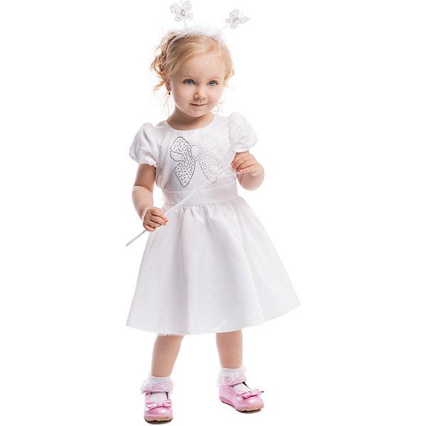 Платье PlayTodayОдежда<br>Платье PlayToday <br><br>Состав: Верх: 100% полиэстер, Подкладка: 100% хлопок <br><br>Легкое, как снежинка, белое платье с пышной юбкой. <br>Украшено сверкающим бантиком из страз. <br>Рукава короткие, малышке не будет жарко на празднике. <br>Сзади завязывающийся поясок.<br>Ширина мм: 236; Глубина мм: 16; Высота мм: 184; Вес г: 177; Цвет: белый; Возраст от месяцев: 12; Возраст до месяцев: 18; Пол: Женский; Возраст: Детский; Размер: 86,92,74,80; SKU: 4305520;