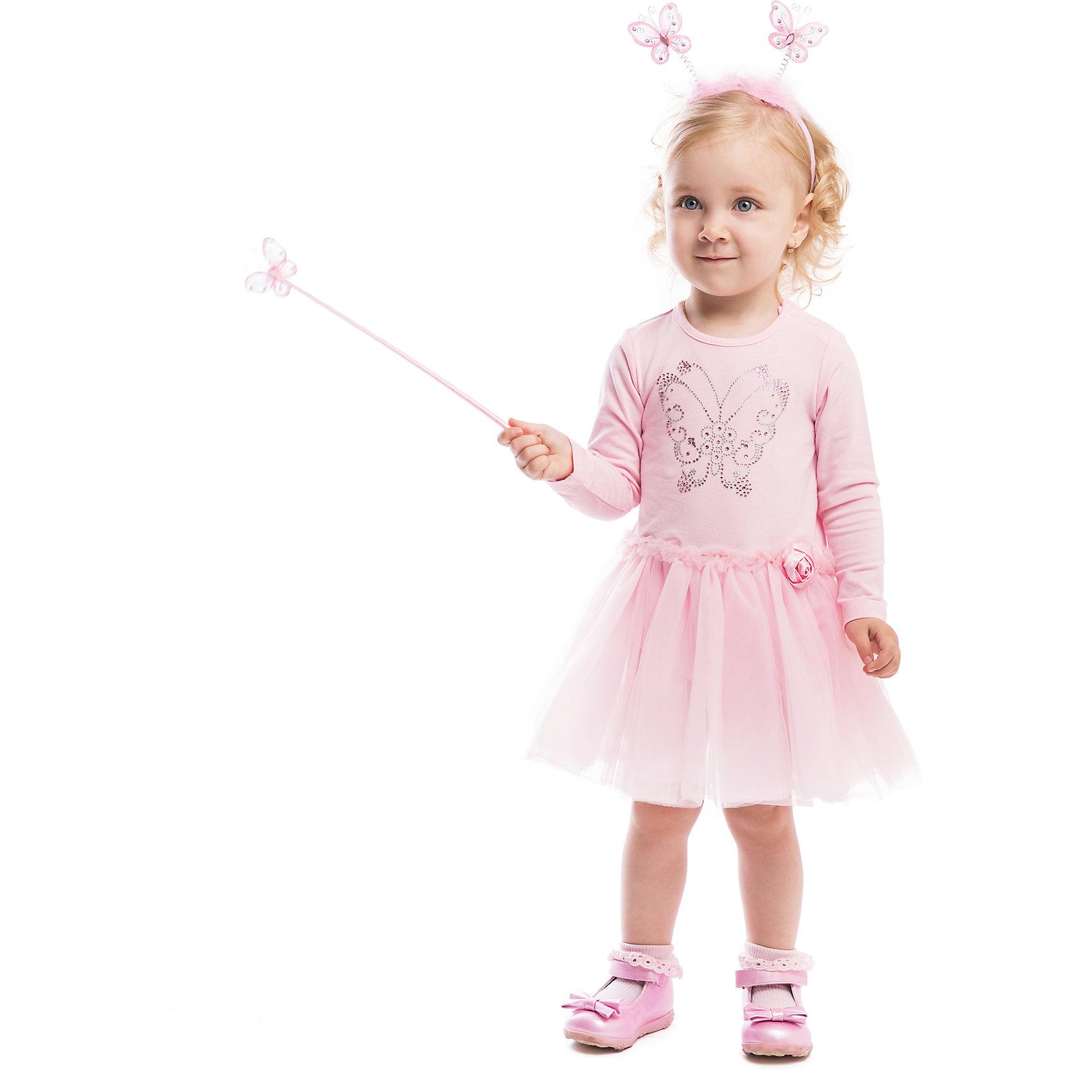 Боди PlayTodayБоди PlayToday <br><br>Состав: 95% хлопок, 5% эластан; отделка 100% полиэстер <br><br>Мягкое розовое боди с пышной юбкой и блестящей бабочкой. <br>Малышка будет выглядеть как воздушная балерина. <br>На поясе атласная розочка. <br>Внизу и на плечиках удобные застежки-кнопочки. <br>Длинные рукава<br><br>Ширина мм: 157<br>Глубина мм: 13<br>Высота мм: 119<br>Вес г: 200<br>Цвет: розовый<br>Возраст от месяцев: 3<br>Возраст до месяцев: 6<br>Пол: Женский<br>Возраст: Детский<br>Размер: 68,74,86,92,80<br>SKU: 4305530