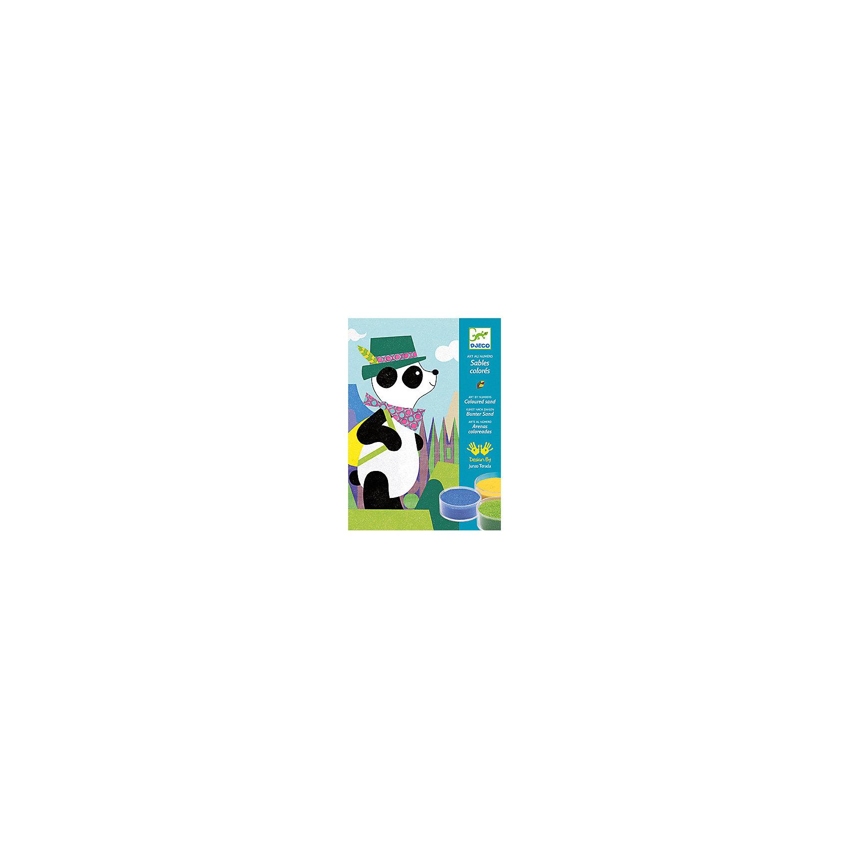 Песочные картинки Панда и ее друзьяПесочные картинки<br>Песочные картинки Панда и ее друзья - это набор для создания 4 красивых картинок из песка по номерам с изображением Панды и его друзей.<br>Набор предназначен песочные картинки Панда и ее друзья - это уникальная раскраска для создания картинок, изображающих панду, олененка, поросенка, котенка с помощью разноцветного песка. На картинке-основе нанесен контур рисунка, фрагменты рисунка крупные. Каждая деталь отмечена цифрой соответственно номеру цветного песка. Коробка, в которой продается набор - рабочая поверхность. Раскрашивать картинку лучше в ней, рабочее место останется чистым и лишний песок можно высыпать через специальное отверстие в коробке назад в баночку. Снимите защитную пленку с одной из деталей рисунка (если это сделать сложно воспользуйтесь шпателем), посыпьте тем цветом песка, номер которого обозначен на этом сегменте рисунка, лишний песок аккуратно снимите кисточкой. Не снимайте защитную пленку сразу с нескольких сегментов - песок перемешается и рисунок потеряет аккуратную форму! Раскрашивать рисунок лучше начинать с верхнего края картинки и постепенно опускаться вниз. Вашему ребенку обязательно понравится делать картины из песка. Готовая картина станет прекрасным подарком, сделанным своими руками, или же дополнит интерьер детской комнаты. Рисование песком - это игровое и художественное занятие, способствующее развитию чувства гармонии, ловкости рук и креативности.<br><br>Дополнительная информация:<br><br>- В наборе: 4 листа с клейкой основой для создания картинок (15x21см.), 12 баночек с цветным песком, шпатель, пошаговая инструкция<br>- Размер упаковки: 23 х 17 х 4 см.<br>- Вес: 530 гр.<br><br>Песочные картинки Панда и ее друзья можно купить в нашем интернет-магазине.<br><br>Ширина мм: 230<br>Глубина мм: 170<br>Высота мм: 40<br>Вес г: 530<br>Возраст от месяцев: 48<br>Возраст до месяцев: 96<br>Пол: Унисекс<br>Возраст: Детский<br>SKU: 4305751