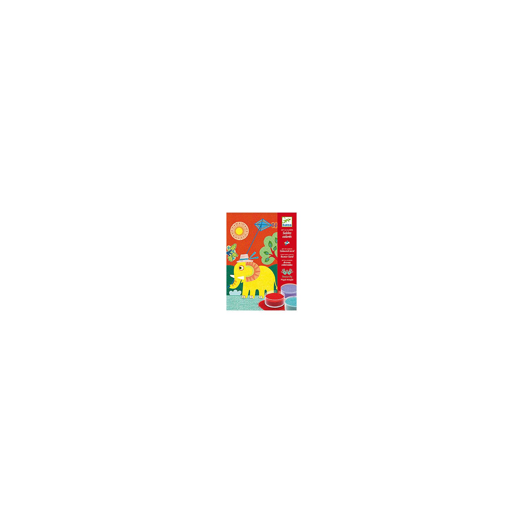 Набор цветного песка На природеКартины из песка<br>Набор цветного песка На природе - это набор для создания 4 красивых картинок из песка по номерам с изображением зверушек на прогулке.<br>Набор предназначен На природе - это уникальная раскраска для создания картинок, изображающих слоненка, щенка, медвежонка, котенка с помощью разноцветного песка. На картинке-основе нанесен контур рисунка, фрагменты рисунка крупные. Каждая деталь отмечена цифрой соответственно номеру цветного песка. Коробка, в которой продается набор - рабочая поверхность. Раскрашивать картинку лучше в ней, рабочее место останется чистым и лишний песок можно высыпать через специальное отверстие в коробке назад в баночку. Снимите защитную пленку с одной из деталей рисунка (если это сделать сложно воспользуйтесь шпателем), посыпьте тем цветом песка, номер которого обозначен на этом сегменте рисунка, лишний песок аккуратно снимите кисточкой. Не снимайте защитную пленку сразу с нескольких сегментов - песок перемешается и рисунок потеряет аккуратную форму! Раскрашивать рисунок лучше начинать с верхнего края картинки и постепенно опускаться вниз. Вашему ребенку обязательно понравится делать картины из песка. Готовая картина станет прекрасным подарком, сделанным своими руками, или же дополнит интерьер детской комнаты. Рисование песком - это игровое и художественное занятие, способствующее развитию чувства гармонии, ловкости рук и креативности.<br><br>Дополнительная информация:<br><br>- В наборе: 4 картинки из плотного картона (15х21 см), покрытые специальным безопасным клеем, 12 баночек разноцветного песка, 1 инструмент для распределения песка, пошаговая инструкция<br>- Размер упаковки: 23 х 16 х 4 см.<br>- Вес: 610гр.<br><br>Набор цветного песка На природе можно купить в нашем интернет-магазине.<br><br>Ширина мм: 230<br>Глубина мм: 160<br>Высота мм: 40<br>Вес г: 610<br>Возраст от месяцев: 48<br>Возраст до месяцев: 96<br>Пол: Унисекс<br>Возраст: Детский<br>SKU: 4305752