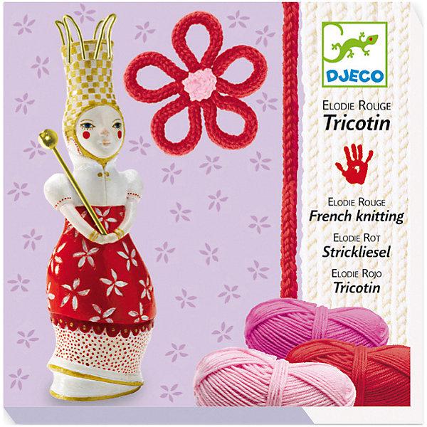 Набор для вязания (красный)Наборы для вязания<br>Набор для вязания (красный) - это замечательный набор для юных рукодельниц.<br>Набор для вязания (красный) от французской компании Djeco (Джеко) поможет вашей малышке в игровой форме узнавать секреты работы с нитками. Девочка с легкостью научится вязать разноцветные косички из шерстяных ниток и плести из них нарядные цветочки, а куколка с крючками на шляпке поможет познакомиться с азами рукоделия. Увлекательный процесс вязания принесет ребенку удовольствие, а также позволит развить внимательность, усидчивость, мелкую моторику рук и творческие способности.<br><br>Дополнительная информация:<br><br>- В наборе: куколка с крючками на шляпке, три мотка шерсти красных оттенков, подробная красочная инструкция с примерами<br>- Упаковка: оригинальная подарочная коробка<br>- Размер упаковки: 19 х 12 х 5 см.<br>- Вес: 260 гр.<br><br>Набор для вязания (красный) можно купить в нашем интернет-магазине.<br>Ширина мм: 190; Глубина мм: 120; Высота мм: 50; Вес г: 260; Возраст от месяцев: 84; Возраст до месяцев: 156; Пол: Женский; Возраст: Детский; SKU: 4305755;