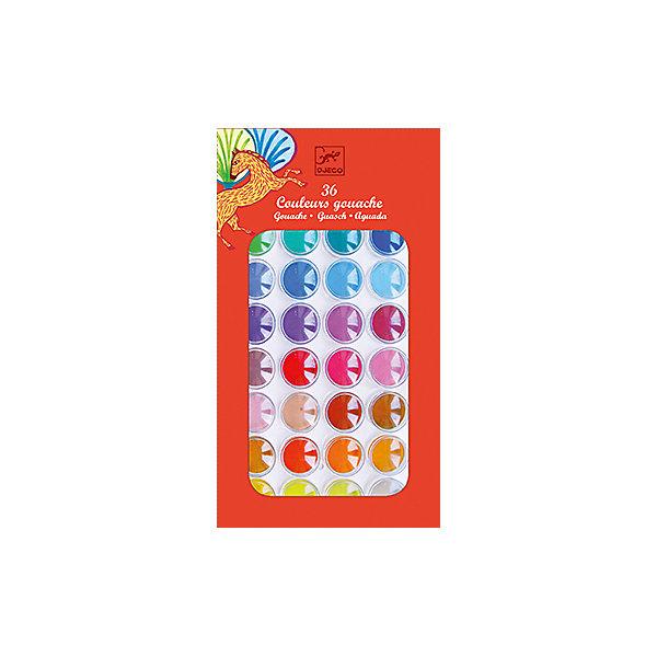 Гуашь, 36 цветов, DJECOРисование и лепка<br>Гуашь, 36 цветов, DJECO (ДЖЕКО) – это прекрасный набор качественной гуаши для рисования.<br>Гуашь от французской компании Djeco (Джеко) – это великолепный набор для творчества из 36 цветов и кисточки для рисования. Он станет замечательным подарком для начинающего художника. Пластиковая крышка имеет специальные выемки, что очень удобно для смешивания различных цветов. Богатая палитра оттенков открывает перед детьми широкое поле для фантазии. Рисунки будут получаться яркими и насыщенными. Краска сделана на водной основе из натуральных ингредиентов, легко наносится как на бумагу, так и на картон, быстро сохнет. Рисование - это одно из самых любимых занятий детей. Рисуя, ребенок открывает для себя неизведанный мир формы и цвета, развивает воображение и фантазию. В рисунок трансформируются мысли ребенка и его чувства. Развивается мелкая моторика, а значит и речевой аппарат, логическое мышление; ребенок учится аккуратности, терпению, усидчивости.<br><br>Дополнительная информация:<br><br>- В наборе: гуашь 36 цветов, кисточка<br>- Размер упаковки: 28 х 15 х 2 см.<br>- Вес: 130 гр.<br><br>Гуашь, 36 цветов, DJECO (ДЖЕКО) можно купить в нашем интернет-магазине.<br><br>Ширина мм: 280<br>Глубина мм: 150<br>Высота мм: 20<br>Вес г: 130<br>Возраст от месяцев: 24<br>Возраст до месяцев: 72<br>Пол: Унисекс<br>Возраст: Детский<br>SKU: 4305757