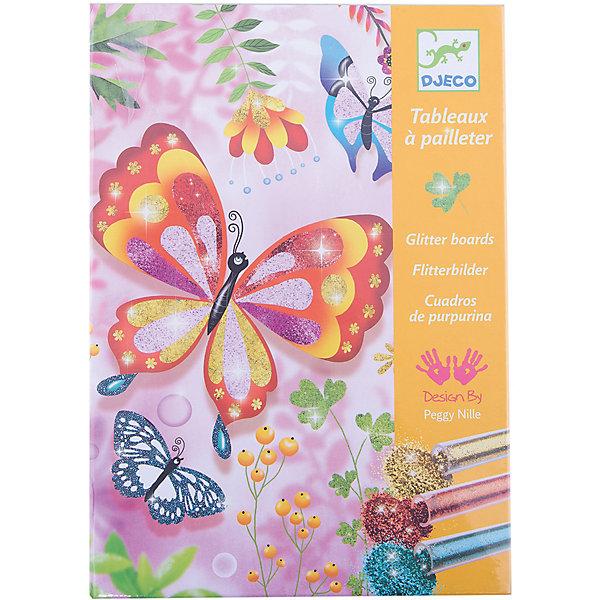 Раскраска Блестящие бабочкиРаскраски по номерам<br>Раскраска Блестящие бабочки – это невероятно красивый и яркий творческий набор для вашей девочки.<br>С помощью раскраски Блестящие бабочки Ваша девочка сможет освоить технику раскрашивания картинок разноцветными блёстками. Картинки, выполненные в этой технике, создают атмосферу сказки и праздничное настроение игрой света, переливами цветов и мерцанием красок. В комплекте Вы найдете картинки-основы с изображением ярких, солнечных бабочек, божьих коровок, стрекоз, пчелок. Поместите картинку в коробку, в которой продается набор. Некоторые участки картинки не раскрашены и имеют клейкую основу. Аккуратно снимите пленку с одного участка и посыпьте из тюбика блестками нужного цвета. Лишние блестки снимите кисточкой или шпателем и через специальное отверстие в коробке пересыпьте их обратно в тюбик. Таким образом, Вы можете экономно расходовать блестки, и рабочее место останется чистым. Так раскрасьте всю картинку. Техника рисование блестками имеет большое преимущество - работы всегда получаются яркими, красочными и волшебными. Творя, ребенок развивает усидчивость, творческие навыки, воображения и фантазию.<br><br>Дополнительная информация:<br><br>- В наборе: 4 клеящиеся картинки (150х210 мм), 6 тюбиков с разноцветными блёстками, кисть, стек, пошаговая инструкция.<br>- Размер упаковки: 23 х 17 х 4 см.<br>- Вес: 450 гр.<br><br>Раскраску Блестящие бабочки можно купить в нашем интернет-магазине.<br>Ширина мм: 230; Глубина мм: 170; Высота мм: 40; Вес г: 450; Возраст от месяцев: 84; Возраст до месяцев: 156; Пол: Женский; Возраст: Детский; SKU: 4305765;