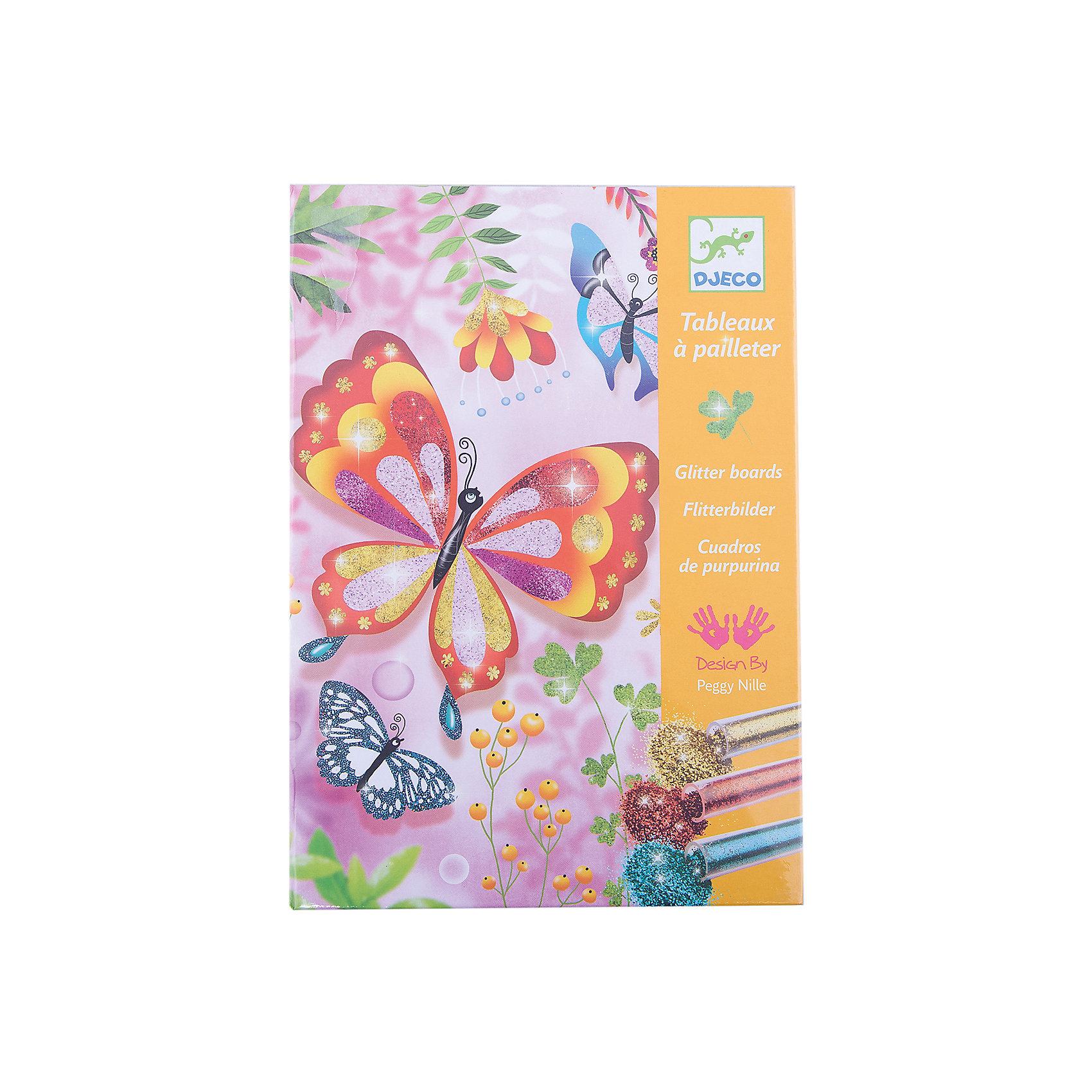 Раскраска Блестящие бабочкиРаскраски<br>Раскраска Блестящие бабочки – это невероятно красивый и яркий творческий набор для вашей девочки.<br>С помощью раскраски Блестящие бабочки Ваша девочка сможет освоить технику раскрашивания картинок разноцветными блёстками. Картинки, выполненные в этой технике, создают атмосферу сказки и праздничное настроение игрой света, переливами цветов и мерцанием красок. В комплекте Вы найдете картинки-основы с изображением ярких, солнечных бабочек, божьих коровок, стрекоз, пчелок. Поместите картинку в коробку, в которой продается набор. Некоторые участки картинки не раскрашены и имеют клейкую основу. Аккуратно снимите пленку с одного участка и посыпьте из тюбика блестками нужного цвета. Лишние блестки снимите кисточкой или шпателем и через специальное отверстие в коробке пересыпьте их обратно в тюбик. Таким образом, Вы можете экономно расходовать блестки, и рабочее место останется чистым. Так раскрасьте всю картинку. Техника рисование блестками имеет большое преимущество - работы всегда получаются яркими, красочными и волшебными. Творя, ребенок развивает усидчивость, творческие навыки, воображения и фантазию.<br><br>Дополнительная информация:<br><br>- В наборе: 4 клеящиеся картинки (150х210 мм), 6 тюбиков с разноцветными блёстками, кисть, стек, пошаговая инструкция.<br>- Размер упаковки: 23 х 17 х 4 см.<br>- Вес: 450 гр.<br><br>Раскраску Блестящие бабочки можно купить в нашем интернет-магазине.<br><br>Ширина мм: 230<br>Глубина мм: 170<br>Высота мм: 40<br>Вес г: 450<br>Возраст от месяцев: 84<br>Возраст до месяцев: 156<br>Пол: Женский<br>Возраст: Детский<br>SKU: 4305765