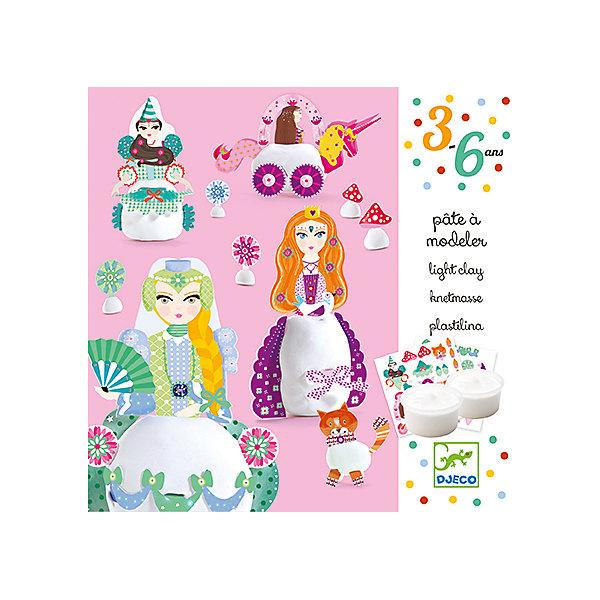 Набор для творчества с пластилином ПринцессыНаборы для лепки<br>Набор для творчества с пластилином Принцессы – это прекрасный набор для создания фигурок из пластилина.<br>Набор для творчества с пластилином Принцессы от французской компании Djeco (Джеко) откроет для ребенка новый увлекательный способ самовыражения. Используя мягкий пластилин и яркие детали, Ваша девочка сможет создавать фигурки очаровательных принцесс, кота, цветочков и грибочков. Нужно всего лишь скатать шарик или овал, прикрепить к нему детали и фигурки готовы. Создавать фигурки можно, следуя примерам из буклета, или, проявив свою фантазию. В результате получатся милые игрушки. Изготовленные из пластилина фигурки застывают на воздухе. Набор для творчества Принцессы поможет в развитии мелкой моторики рук, усидчивости и творческих способностей.<br><br>Дополнительная информация:<br><br>- В наборе: 2 баночки пластилина из натуральных ингредиентов (30 мл) белого цвета, дополнительные аксессуары из картона для украшения, подробная пошаговая инструкция<br>- Размер упаковки: 15 х 15 х 5 см.<br>- Вес: 310 гр.<br><br>Набор для творчества с пластилином Принцессы можно купить в нашем интернет-магазине.<br><br>Ширина мм: 150<br>Глубина мм: 150<br>Высота мм: 50<br>Вес г: 310<br>Возраст от месяцев: 36<br>Возраст до месяцев: 72<br>Пол: Женский<br>Возраст: Детский<br>SKU: 4305767