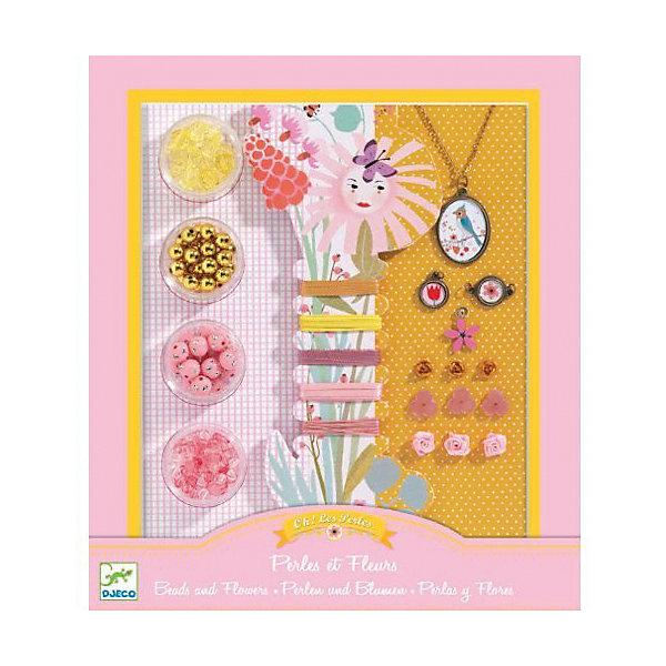 Набор для создания украшений «Цветочки»Наборы для создания украшений и аксессуаров<br>Набор для создания украшений «Цветочки» - это комплект пластиковых бусинок разного цвета и формы, медальонов, подвесок, ленточек, резиночек.<br>С набором для создания украшений «Цветочки» маленькая модница может создавать разнообразные кулоны, браслеты, фенечки. Это очень увлекательный, захватывающий процесс. В подробной пошаговой инструкции описаны модели украшений с использованием различных материалов, методы бисероплетения, плетение ленточек и веревочек. Кроме того, наличие в наборе красочных медальонов, цветочков из пластика и текстиля придают готовым работам шарм и очарование. Созданные своими руками эксклюзивные украшения девочка может носить сама или подарить своей подружке. Набор для создания украшений «Цветочки» помогает развивать у ребенка мелкую моторику, мышление, аккуратность, усидчивость, фантазию.<br><br>Дополнительная информация:<br><br>- В наборе: 4 баночки с разноцветными бусинами, катушка с разноцветными резинками и лентами, медальон с цепочкой, пластиковые цветочки 6 шт., розочки из ленточки 3 шт., медальоны 3 шт., инструкция<br>- Размер упаковки: 24 х 21 х 3 см.<br>- Вес: 330 гр.<br><br>Набор для создания украшений «Цветочки» можно купить в нашем интернет-магазине.<br>Ширина мм: 240; Глубина мм: 210; Высота мм: 30; Вес г: 330; Возраст от месяцев: 96; Возраст до месяцев: 156; Пол: Женский; Возраст: Детский; SKU: 4305768;
