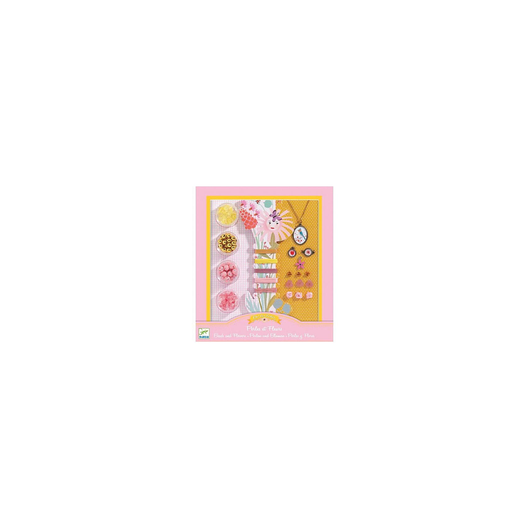 Набор для создания украшений «Цветочки»Набор для создания украшений «Цветочки» - это комплект пластиковых бусинок разного цвета и формы, медальонов, подвесок, ленточек, резиночек.<br>С набором для создания украшений «Цветочки» маленькая модница может создавать разнообразные кулоны, браслеты, фенечки. Это очень увлекательный, захватывающий процесс. В подробной пошаговой инструкции описаны модели украшений с использованием различных материалов, методы бисероплетения, плетение ленточек и веревочек. Кроме того, наличие в наборе красочных медальонов, цветочков из пластика и текстиля придают готовым работам шарм и очарование. Созданные своими руками эксклюзивные украшения девочка может носить сама или подарить своей подружке. Набор для создания украшений «Цветочки» помогает развивать у ребенка мелкую моторику, мышление, аккуратность, усидчивость, фантазию.<br><br>Дополнительная информация:<br><br>- В наборе: 4 баночки с разноцветными бусинами, катушка с разноцветными резинками и лентами, медальон с цепочкой, пластиковые цветочки 6 шт., розочки из ленточки 3 шт., медальоны 3 шт., инструкция<br>- Размер упаковки: 24 х 21 х 3 см.<br>- Вес: 330 гр.<br><br>Набор для создания украшений «Цветочки» можно купить в нашем интернет-магазине.<br><br>Ширина мм: 240<br>Глубина мм: 210<br>Высота мм: 30<br>Вес г: 330<br>Возраст от месяцев: 96<br>Возраст до месяцев: 156<br>Пол: Женский<br>Возраст: Детский<br>SKU: 4305768
