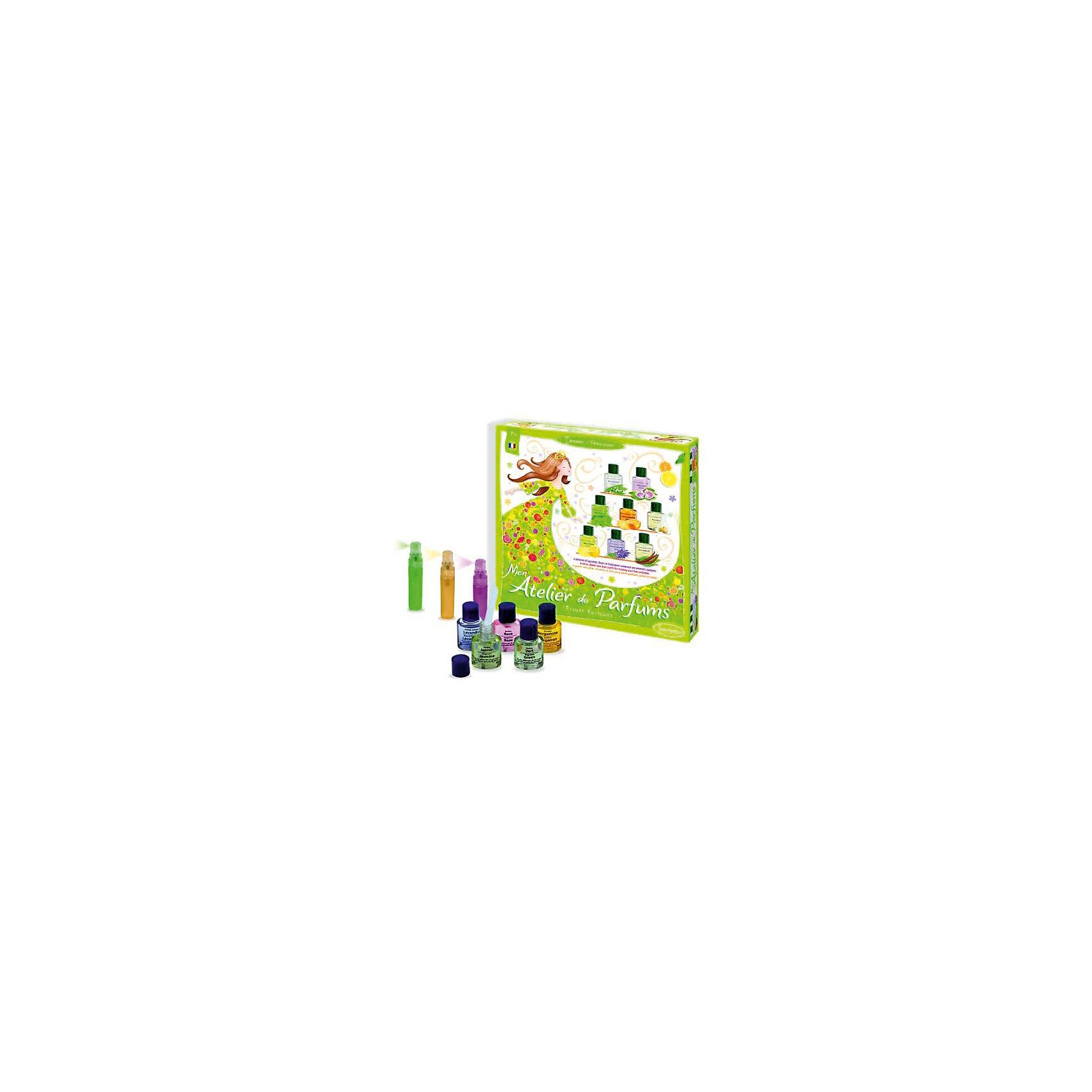 Набор Салон парфюм. Весенние цветыНабор Салон парфюм. Весенние цветы – это отличный набор для того, чтобы попробовать создать необыкновенные духи.<br>Набор для детского творчества Салон парфюм. Весенние цветы от французского производителя Sentosphere (Сентосфере) – прекрасный творческий подарок для маленьких модниц. В наборе девочка найдет все необходимое для того, чтобы создать собственный парфюм. 8 базовых ароматов и все необходимые приспособления позволят девочке проявить творческие способности и придумать свои необычные духи. Получившийся аромат можно перелить в бутылочку со спреем и носить всегда с собой. Все детали набора изготовлены из высококачественных и гипоаллергенных материалов. Набор продается в яркой красочной коробке и идеально подходит для подарка.<br><br>Дополнительная информация:<br><br>- В наборе: 8 базовых парфюмированных масел по 6 мл, 3 бутылочки со спреями, 8 пипеток, салфетки, подробная инструкция<br>- Размер упаковки: 28,5 х 5 х 28,5 см.<br>- Вес: 500 гр.<br><br>Набор Салон парфюм. Весенние цветы можно купить в нашем интернет-магазине.<br><br>Ширина мм: 285<br>Глубина мм: 50<br>Высота мм: 285<br>Вес г: 500<br>Возраст от месяцев: 96<br>Возраст до месяцев: 156<br>Пол: Женский<br>Возраст: Детский<br>SKU: 4305770
