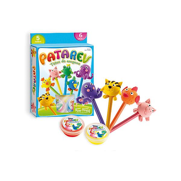 Набор пластилина для детской лепки, 5 цветовНаборы для лепки<br>Набор пластилина для детской лепки, 5 цветов – это прекрасный набор для детского творчества.<br>Из волшебного пластилина ребенок, пользуясь инструкцией, создаст симпатичные украшения для карандашей и ручек в виде осьминога, лягушки, цыпленка, мышки, поросенка. Волшебный пластилин – мечта каждого маленького скульптора, этот пластилин не прилипает к пальцам, не оставляет пятен, не растекается и не ломается при высыхании. Волшебный пластилин невероятно гибкий, цвета прекрасно смешиваются, что позволяет создавать яркие пластилиновые фигурки. Пластилин изготовлен из высококачественных и гипоаллергенных материалов. Набор продается в яркой красочной коробке и идеально подходит для подарка.<br><br>Дополнительная информация:<br><br>- В наборе: 5 баночек пластилина (синий, красный, белый, зеленый, желтый); пошаговая инструкция<br>- Размер упаковки: 16 x 3,5 x 20 см.<br>- Вес: 285 гр.<br><br>Набор пластилина для детской лепки, 5 цветов можно купить в нашем интернет-магазине.<br><br>Ширина мм: 160<br>Глубина мм: 35<br>Высота мм: 200<br>Вес г: 285<br>Возраст от месяцев: 72<br>Возраст до месяцев: 156<br>Пол: Унисекс<br>Возраст: Детский<br>SKU: 4305781