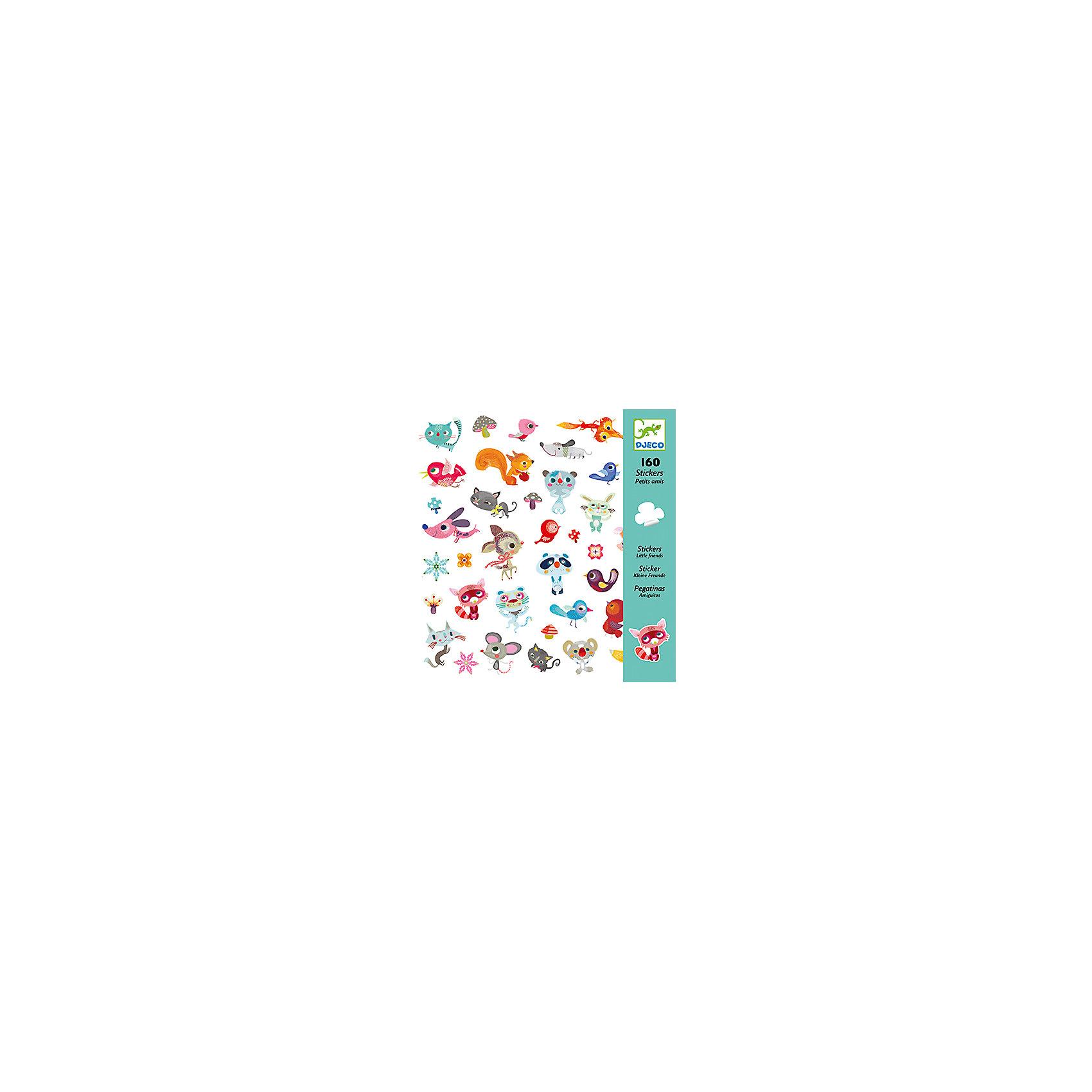 Наклейки Маленькие друзьяНаклейки Маленькие друзья  – это комплект замечательных ярких наклеек с веселыми зверушками.<br>Удивительный набор наклеек Маленькие друзья от французского бренда Djeco (Джеко) украсит любые поверхности детской комнаты. Можно оформить красивую открытку или аппликацию и подарить ее бабушке или друзьям. Изображения созданы современными французскими художниками. Каждая наклейка в этом наборе уникальна и необычна. Вашему малышу будет интересно рассматривать милые и веселые рожицы добродушного песика, хитрющего кота, весельчака медведя, придумывать имена, истории про каждого персонажа. Наклейки сделаны на виниловой основе, их можно переклеивать, они прекрасно клеятся к любой поверхности, легко снимаются и не оставляют следов. Процесс декорирования наклейками различных поверхностей окажет влияние на развитии фантазии и творческих способностей ребенка. Набор в яркой красочной упаковке прекрасно подойдет для подарка.<br><br>Дополнительная информация:<br><br>- В наборе: 160 наклеек (80 пар наклеек)<br>- 4 листа наклеек 20х20 см, на каждом по 40 наклеек<br>- Размер упаковки: 23 х 22 х 1 см.<br>- Вес: 80 гр.<br><br>Наклейки Маленькие друзья можно купить в нашем интернет-магазине.<br><br>Ширина мм: 230<br>Глубина мм: 220<br>Высота мм: 10<br>Вес г: 80<br>Возраст от месяцев: 36<br>Возраст до месяцев: 72<br>Пол: Унисекс<br>Возраст: Детский<br>SKU: 4305785