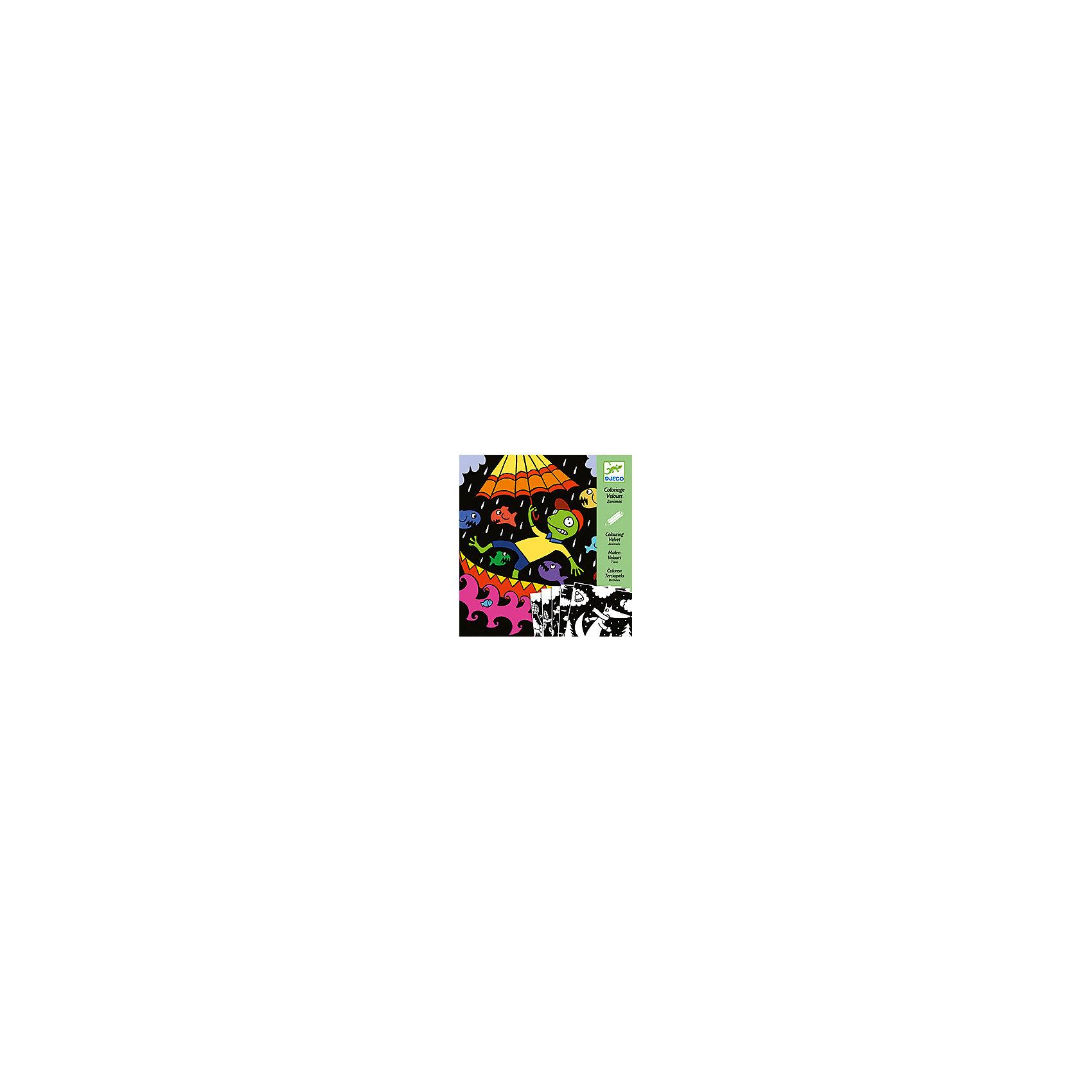 Бархатные раскраски Животные Бархатные раскраски Животные  – это прекрасный набор для детского творчества.<br>Бархатные раскраски Животные от французской компании Djeco (Джеко) станут прекрасным пособием для начинающего художника. Малышам предстоит раскрасить специальные заготовки с помощью фломастеров, карандашей или красок, проявив свою фантазию. Бархатная основа создает интересный эффект и не дает выйти за края, поэтому картинки получатся аккуратными. Бархатные раскраски Животные  подарит детям радость самовыражения, и поможет развивать усидчивость, воображение, мелкую моторику, цветовосприятие и творческое мышление.<br><br>Дополнительная информация:<br><br>- В наборе: 5 картинок-основ с веселыми сюжетами из жизни разных животных, буклет-инструкция<br>- Размер упаковки: 22 х 23 х 1 см.<br>- Вес: 120 гр. <br><br>Бархатные раскраски Животные можно купить в нашем интернет-магазине.<br><br>Ширина мм: 220<br>Глубина мм: 230<br>Высота мм: 10<br>Вес г: 120<br>Возраст от месяцев: 36<br>Возраст до месяцев: 72<br>Пол: Унисекс<br>Возраст: Детский<br>SKU: 4305792