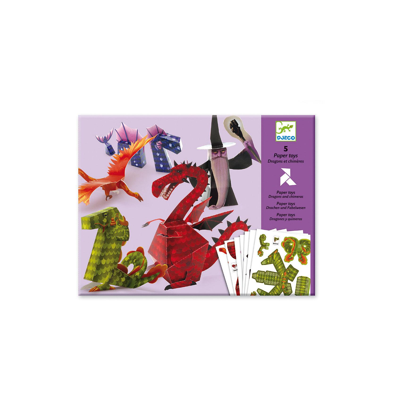 Волшебная бумага «Драконы»Волшебная бумага «Драконы»  – это яркий и необычный набор для детского творчества.<br>Волшебная бумага «Драконы» от французской компании Djeco (Джеко) - это интересный набор, с помощью которого дети смогут создать 5 оригинальных объемных моделей, используя технику оригами. Три забавных дракона с шипами, зубами и крыльями, огненная птица-феникс и могучий маг дополнят коллекцию вашего маленького любителя фэнтези. Набор способствует развитию у ребенка терпения, аккуратности, мелкой моторики, логического и пространственного мышления, стимулирует творческую активность.<br><br>Дополнительная информация:<br><br>- В наборе: 5 шаблонов из плотной глянцевой бумаги (29,7х21 см) для изготовления 5 моделей, иллюстрированная инструкция<br>- Размер упаковки: 32 х 24 х 1 см.<br>- Вес: 170 гр. <br><br>Волшебную бумагу «Драконы» можно купить в нашем интернет-магазине.<br><br>Ширина мм: 320<br>Глубина мм: 240<br>Высота мм: 10<br>Вес г: 170<br>Возраст от месяцев: 84<br>Возраст до месяцев: 156<br>Пол: Унисекс<br>Возраст: Детский<br>SKU: 4305793