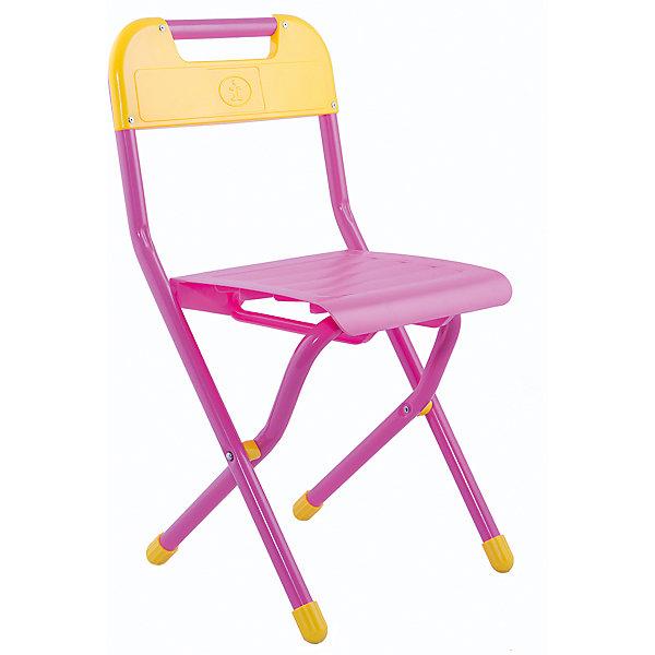 Стул (2-5 лет), Дэми, розовыйДетские столы и стулья<br>Складной стул - незаменимый атрибут любой детской комнаты. Стул очень удобный и прочный, яркая расцветка обязательно понравится детям и отлично впишется в интерьер. Стул быстро раскладывается и складывается, в сложенном виде занимает мало места. Прочное алюминиевое основание и пластиковое сиденье и спинку удобно мыть. Прекрасно подходит для организации детских игр и отдыха. <br><br>Дополнительная информация:<br>- Высота от пола до сиденья: 30 см. <br>- Материал: пластик, алюминий. <br>- Цвет: розовый.<br>- Складывается. <br>- Максимальный вес: 30 кг.<br><br>Розовый стул (2-5 лет) можно купить в нашем магазине.<br>Ширина мм: 640; Глубина мм: 340; Высота мм: 110; Вес г: 1500; Возраст от месяцев: 24; Возраст до месяцев: 60; Пол: Женский; Возраст: Детский; SKU: 4306476;