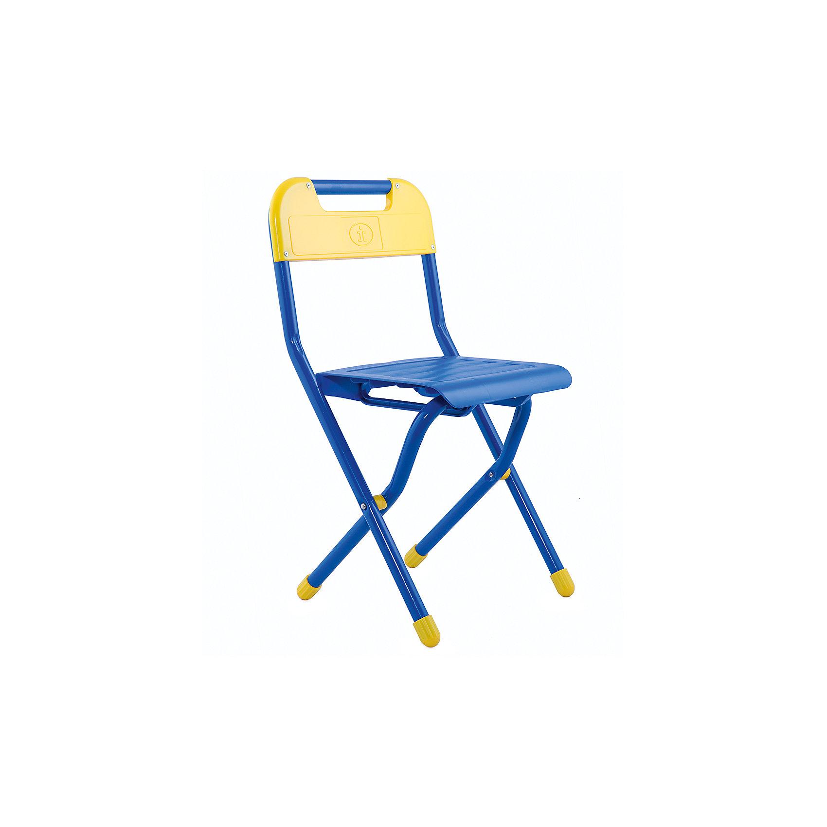 Синий стул (2-5 лет), ДэмиСкладной стул - незаменимый атрибут любой детской комнаты. Стул очень удобный и прочный, яркая расцветка обязательно понравится детям и отлично впишется в интерьер. Стул быстро раскладывается и складывается, в сложенном виде занимает мало места. Прочное алюминиевое основание и пластиковое сиденье и спинку удобно мыть. Прекрасно подходит для организации детских игр и отдыха. <br><br>Дополнительная информация:<br>- Высота от пола до сиденья: 30 см. <br>- Материал: пластик, алюминий. <br>- Цвет: синий.<br>- Складывается. <br>- Максимальный вес: 30 кг.<br><br>Синий стул (2-5 лет) можно купить в нашем магазине.<br><br>Ширина мм: 640<br>Глубина мм: 340<br>Высота мм: 110<br>Вес г: 1500<br>Возраст от месяцев: 24<br>Возраст до месяцев: 60<br>Пол: Мужской<br>Возраст: Детский<br>SKU: 4306477