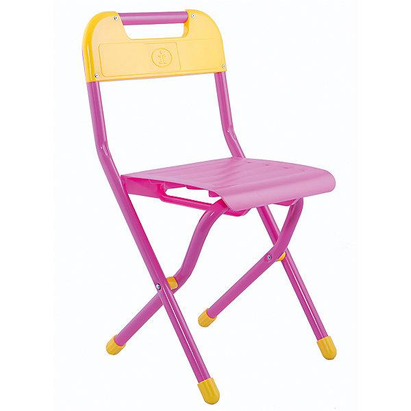 Стул (3-7 лет), Дэми, розовыйДетские столы и стулья<br>Складной стул - незаменимый атрибут любой детской комнаты. Стул очень удобный и прочный, яркая расцветка обязательно понравится детям и отлично впишется в интерьер. Стул быстро раскладывается и складывается, в сложенном виде занимает мало места. Прочное алюминиевое основание и пластиковое сиденье и спинку удобно мыть. Прекрасно подходит для организации детских игр и отдыха. <br><br>Дополнительная информация:<br><br>- Размер: 33х60х32 см.<br>- Высота от пола до сиденья: 34 см. <br>- Материал: пластик, алюминий. <br>- Цвет: розовый.<br>- Складывается. <br>- Максимальный вес: 30 кг.<br><br>Розовый стул (3-7 лет) можно купить в нашем магазине.<br><br>Ширина мм: 730<br>Глубина мм: 340<br>Высота мм: 110<br>Вес г: 1500<br>Возраст от месяцев: 36<br>Возраст до месяцев: 84<br>Пол: Женский<br>Возраст: Детский<br>SKU: 4306478