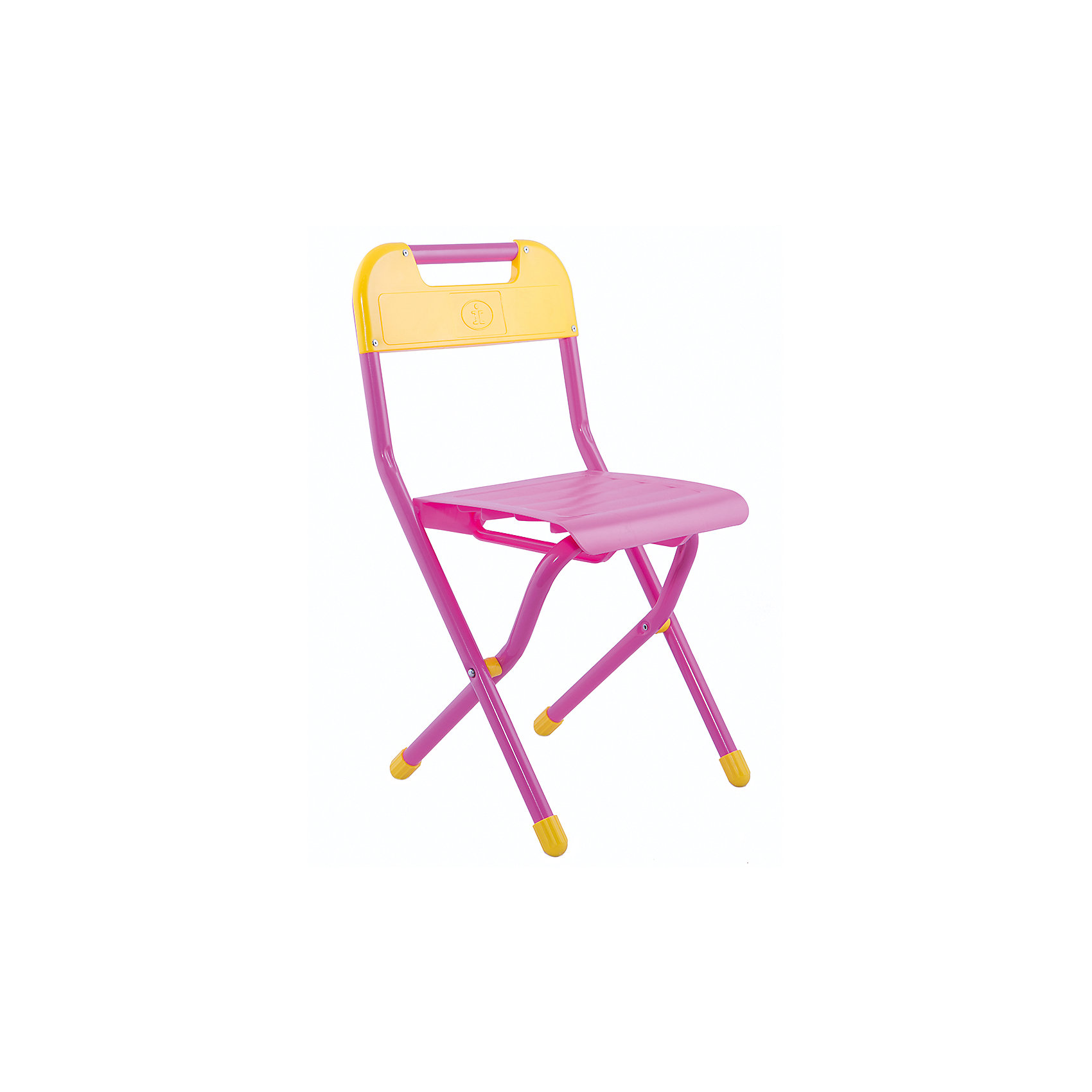 Стул (3-7 лет), Дэми, розовыйМебель<br>Складной стул - незаменимый атрибут любой детской комнаты. Стул очень удобный и прочный, яркая расцветка обязательно понравится детям и отлично впишется в интерьер. Стул быстро раскладывается и складывается, в сложенном виде занимает мало места. Прочное алюминиевое основание и пластиковое сиденье и спинку удобно мыть. Прекрасно подходит для организации детских игр и отдыха. <br><br>Дополнительная информация:<br><br>- Размер: 33х60х32 см.<br>- Высота от пола до сиденья: 34 см. <br>- Материал: пластик, алюминий. <br>- Цвет: розовый.<br>- Складывается. <br>- Максимальный вес: 30 кг.<br><br>Розовый стул (3-7 лет) можно купить в нашем магазине.<br><br>Ширина мм: 730<br>Глубина мм: 340<br>Высота мм: 110<br>Вес г: 1500<br>Возраст от месяцев: 36<br>Возраст до месяцев: 84<br>Пол: Женский<br>Возраст: Детский<br>SKU: 4306478