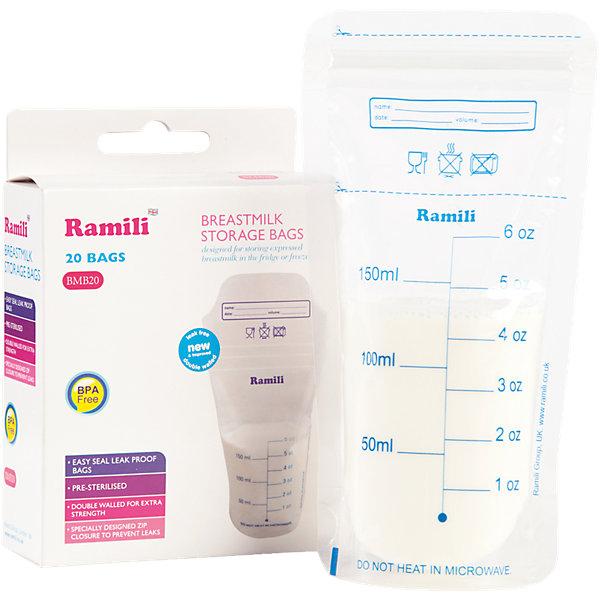 Пакеты для хранения грудного молока Breastmilk Bags BMB20, RamiliМолокоотсосы и аксессуары<br><br>Ширина мм: 140; Глубина мм: 140; Высота мм: 50; Вес г: 200; Возраст от месяцев: 0; Возраст до месяцев: 12; Пол: Унисекс; Возраст: Детский; SKU: 4306746;