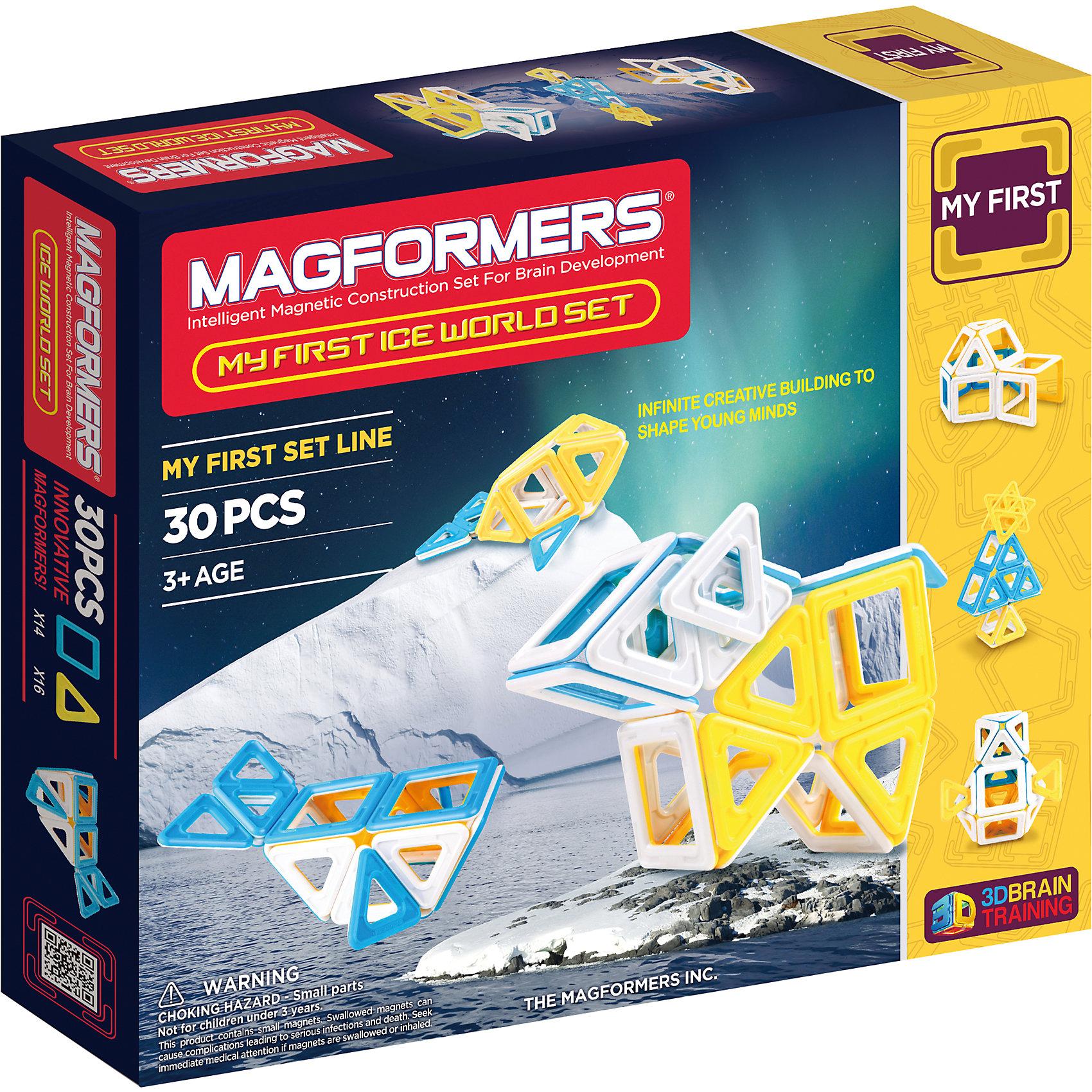 MAGFORMERS Магнитный конструктор Ice World, 30 деталей, MAGFORMERS guide craft магнитный конструктор better builders career people