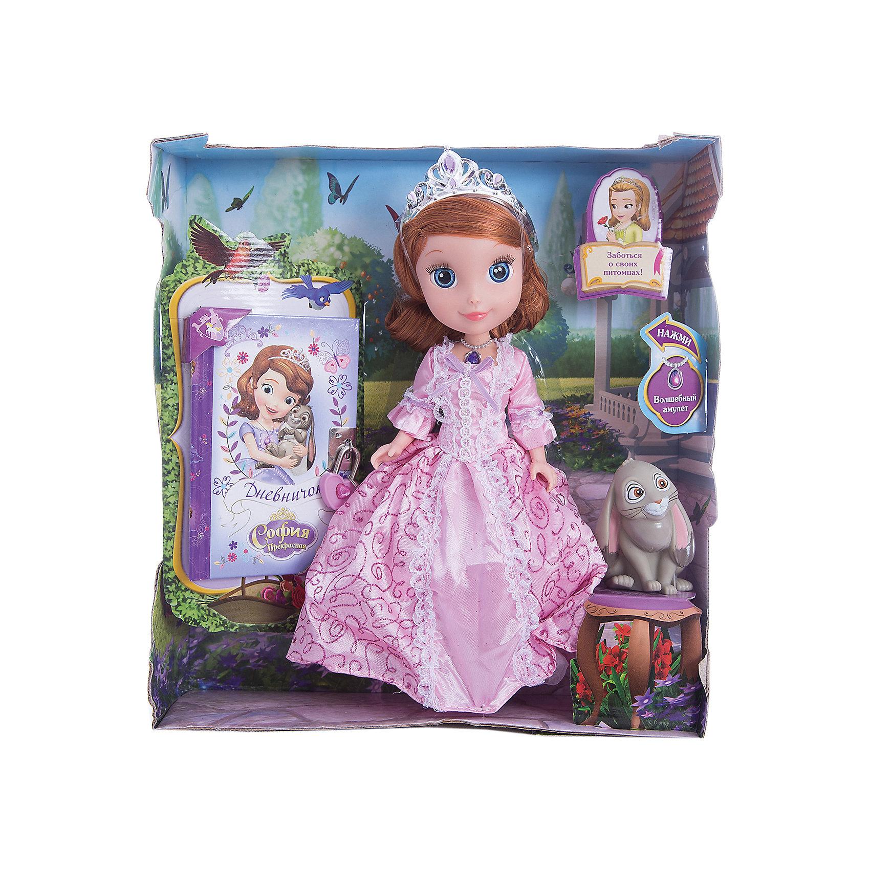 Кукла София, с кроликом и дневником, 25см, София Прекрасная, КарапузОчаровательная София и ее верный друг-кролик обязательно порадуют девочек. Куколка выглядит в точности, как персонаж из любимого мультфильма. Малышка одета в красивое платье с пышной юбкой, на голове у нее - изысканная тиара. Проигрывай полюбившиеся моменты из мультфильма или придумывай свои новые истории и записывай их в дневник. <br><br>Дополнительная информация:<br><br>- Материал: пластик, текстиль.<br>- Размер куклы: 25 см.<br>- Голова, руки, ноги куклы подвижные. <br>- Комплектация: кукла в одежде, аксессуары, кролик, дневник.<br><br>Куклу София, с кроликом и дневником, 25см, София Прекрасная, Карапуз, можно купить в нашем магазине.<br><br>Ширина мм: 270<br>Глубина мм: 300<br>Высота мм: 90<br>Вес г: 630<br>Возраст от месяцев: 36<br>Возраст до месяцев: 120<br>Пол: Женский<br>Возраст: Детский<br>SKU: 4310816