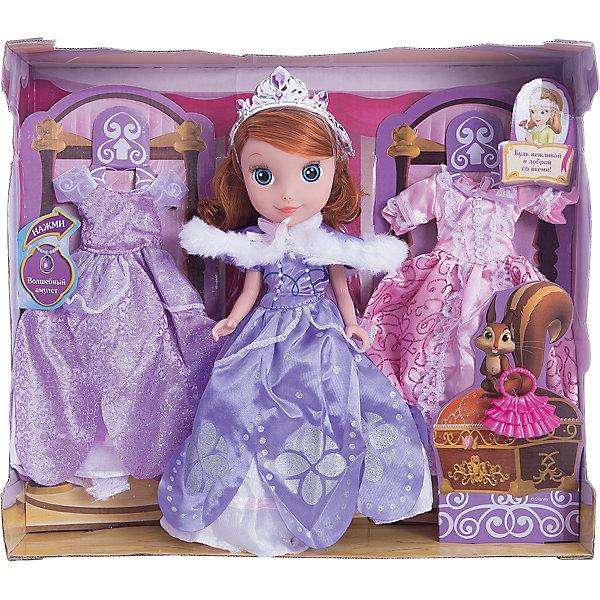 Кукла София, с набором для одежды, 25см, София Прекрасная, КарапузКуклы<br>Очаровательная София приведет в восторг любую девочку. Куколка выглядит в точности, как персонаж из любимого мультфильма. Малышка одета в красивое платье с пышной юбкой, на голове у нее - изысканная тиара. В этом комплекте еще целых два прекрасных наряда, которые София может надеть на бал или же прогулку. <br><br>Дополнительная информация:<br><br>- Материал: пластик, текстиль.<br>- Размер куклы: 25 см.<br>- Голова, руки, ноги куклы подвижные. <br>- Комплектация: кукла в одежде, 2 платья, аксессуары. <br><br>Куклу София, с набором для одежды, 25см, София Прекрасная, Карапуз, можно купить в нашем магазине.<br>Ширина мм: 330; Глубина мм: 300; Высота мм: 90; Вес г: 660; Возраст от месяцев: 36; Возраст до месяцев: 120; Пол: Женский; Возраст: Детский; SKU: 4310818;