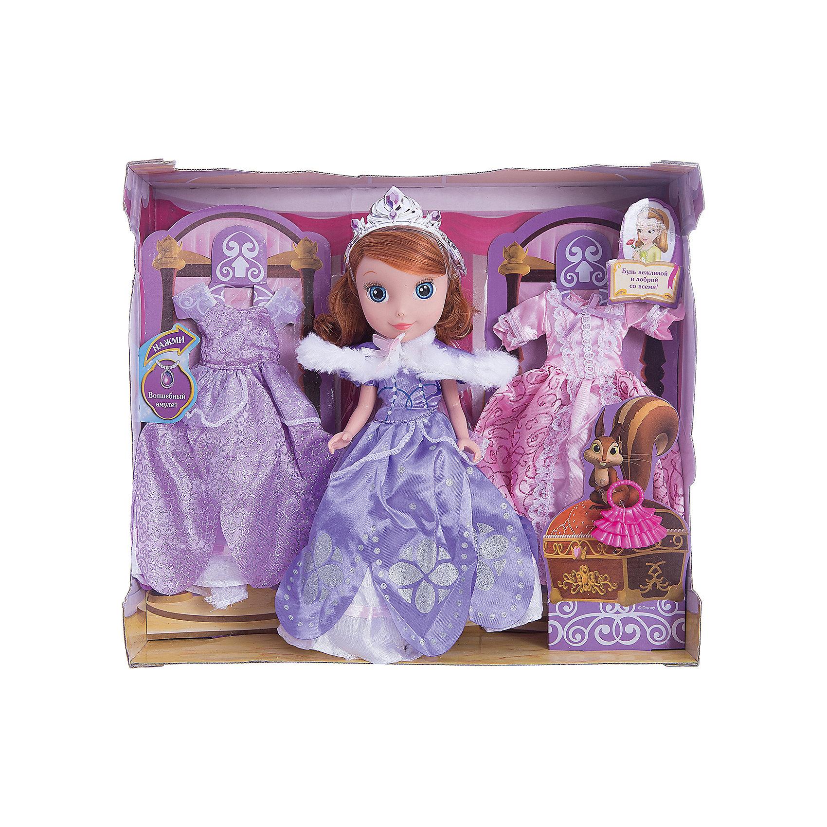 Кукла София, с набором для одежды, 25см, София Прекрасная, КарапузИгрушки<br>Очаровательная София приведет в восторг любую девочку. Куколка выглядит в точности, как персонаж из любимого мультфильма. Малышка одета в красивое платье с пышной юбкой, на голове у нее - изысканная тиара. В этом комплекте еще целых два прекрасных наряда, которые София может надеть на бал или же прогулку. <br><br>Дополнительная информация:<br><br>- Материал: пластик, текстиль.<br>- Размер куклы: 25 см.<br>- Голова, руки, ноги куклы подвижные. <br>- Комплектация: кукла в одежде, 2 платья, аксессуары. <br><br>Куклу София, с набором для одежды, 25см, София Прекрасная, Карапуз, можно купить в нашем магазине.<br><br>Ширина мм: 330<br>Глубина мм: 300<br>Высота мм: 90<br>Вес г: 660<br>Возраст от месяцев: 36<br>Возраст до месяцев: 120<br>Пол: Женский<br>Возраст: Детский<br>SKU: 4310818