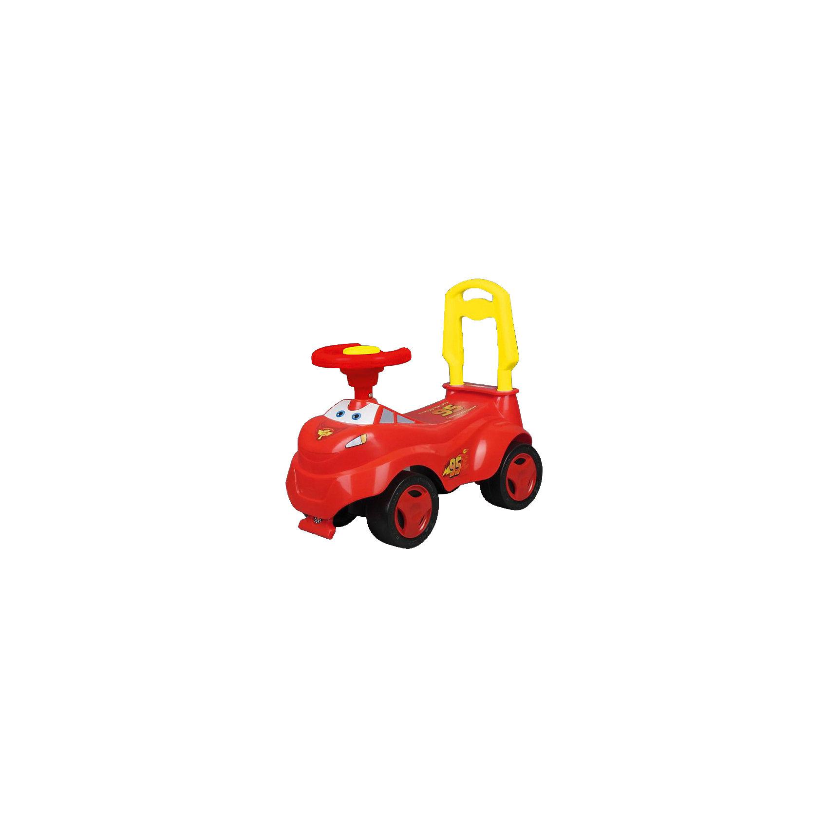 Машина-каталка с ручкой, озвученная, Тачки, Bugati