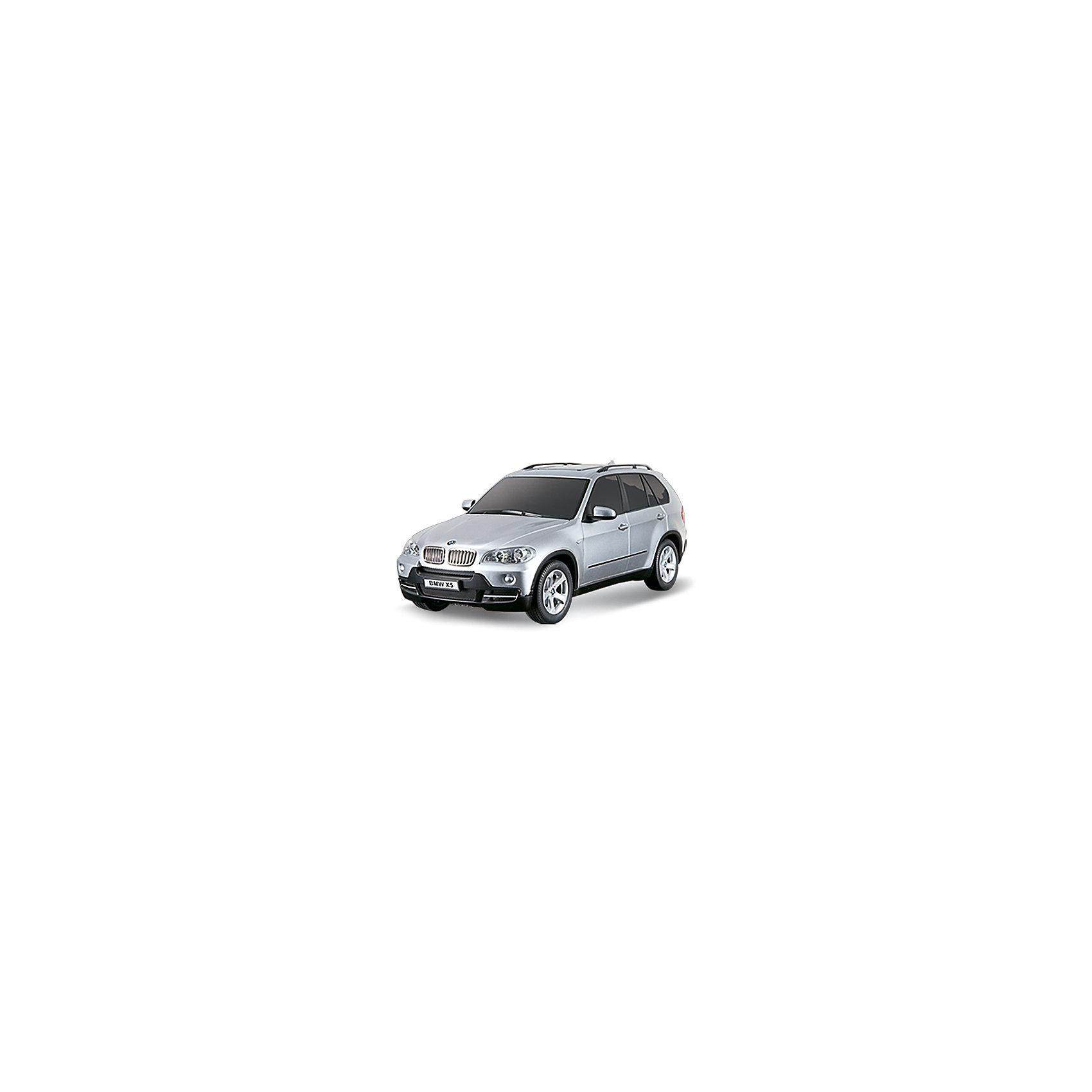 Машина BMW X5, 1:18, со светом, р/у, RASTAR, в ассортиментеНевероятно стильная и красивая модель, выполненная в масштабе 1:18 приведет в восторг любого мальчишку! Машина прекрасно детализирована, очень похожа на настоящий автомобиль, развивает скорость до 12км/ч. Модель имеет четыре направления движения: вперед, назад, вправо и влево, работающие передние и задние фары, стоп-сигналы, при повороте вправо/влево включаются поворотники, во время движения слышен шум работающего двигателя. <br><br>Дополнительная информация:<br><br>- Материал: пластик, металл.<br>- Размер: 27,5х10,5х 10,4 см. <br>- Максимальная скорость 12 км/ч.<br>- Время непрерывной работы: 120 мин.<br>- Масштаб: 1:18.<br>- Комплектация: машинка; пульт управления.<br>- Звуковые и световые эффекты.<br>- Элемент питания: 4 ААА батарейки 1 крона (в комплект не входят).<br>- Дистанция управления: до 15 м.<br>- Цвет в ассортименте.<br>ВНИМАНИЕ! Данный артикул представлен в разных цветовых вариантах. К сожалению, заранее выбрать определенный цвет невозможно. При заказе нескольких машин, возможно получение одинаковых.<br><br>Машину BMW X5, 1:18, со светом, р/у, RASTAR, в ассортименте, можно купить в нашем магазине.<br><br>Ширина мм: 380<br>Глубина мм: 150<br>Высота мм: 170<br>Вес г: 830<br>Возраст от месяцев: 36<br>Возраст до месяцев: 144<br>Пол: Мужской<br>Возраст: Детский<br>SKU: 4310828