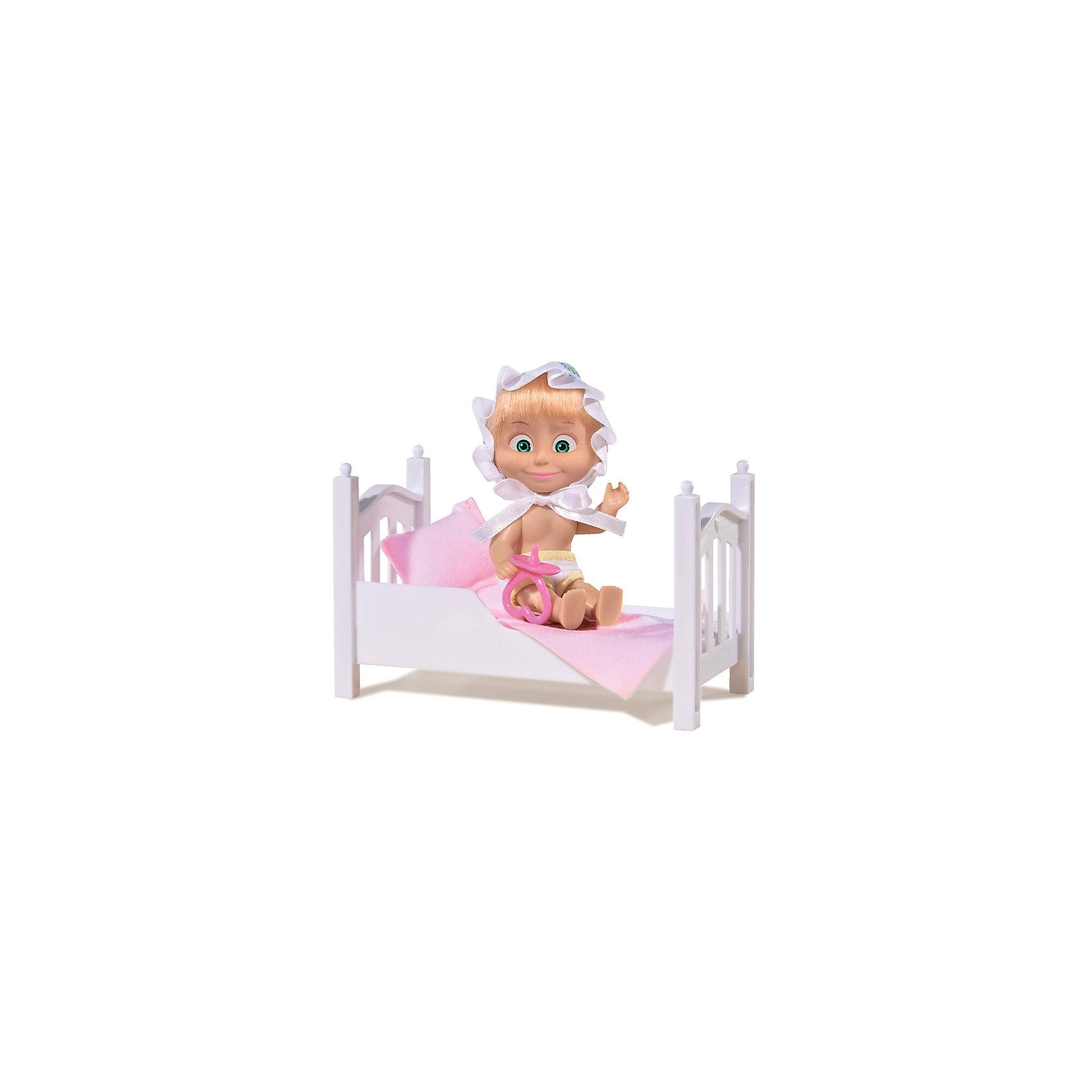 Simba Кукла Маша с кроваткой, Маша и Медведь, Simba