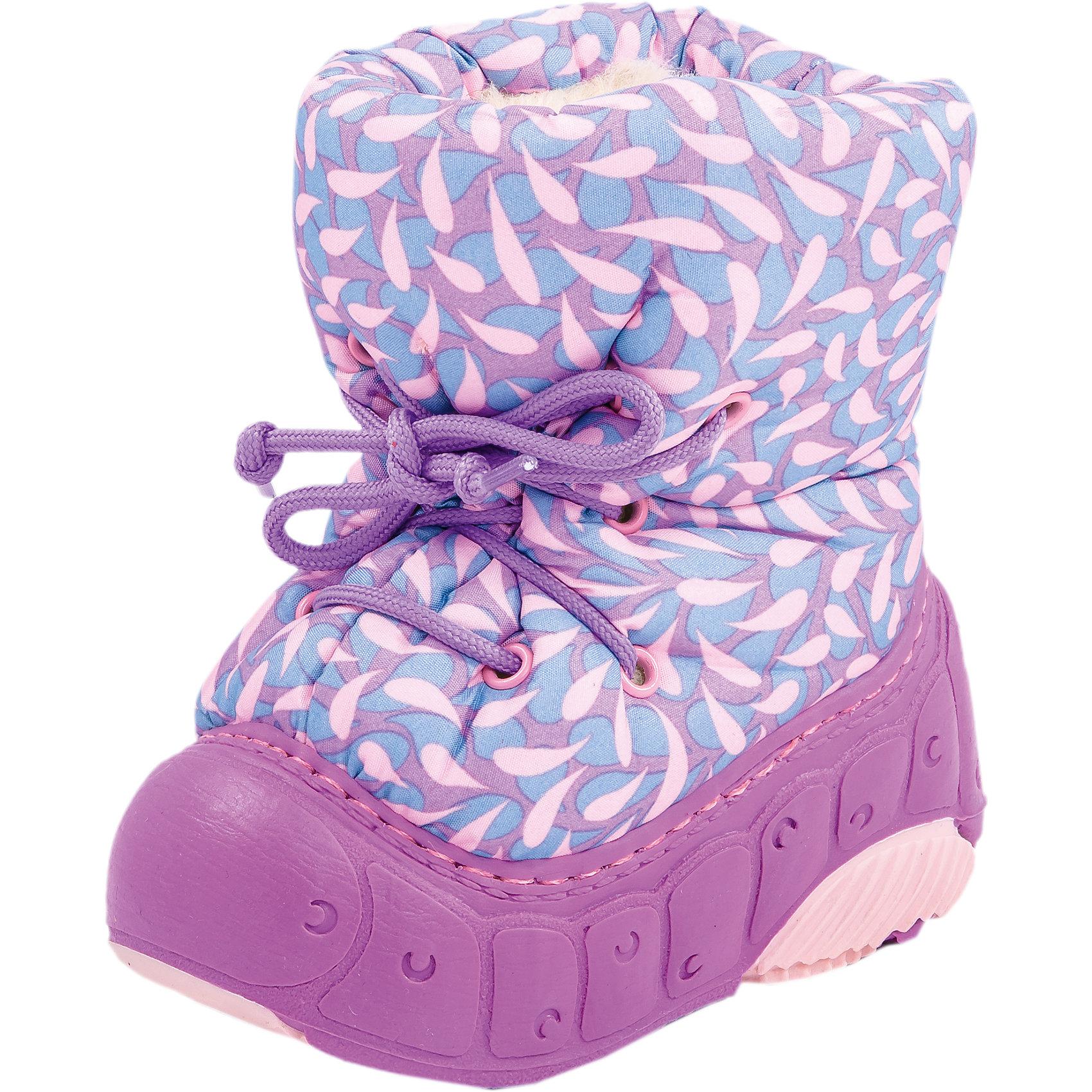 Сапоги для девочки КотофейСноубутсы<br>Сапоги для девочки от известного российского бренда Котофей<br><br>Теплые и удобные сноубутсы помогут защитить детские ножки от сырости и холода. Они легко надеваются, комфортно садятся по ноге.<br>Их отличительные особенности:<br>- цвет - сиреневый;<br>- стильный дизайн;<br>- верх – водонепроницаемый текстиль;<br>- удобная колодка;<br>- подкладка утепленная;<br>- вид крепления – клеепрошивной;<br>- амортизирующая подошва;<br>- застежка - шнуровка.<br><br>Дополнительная информация:<br><br>Температурный режим: <br><br>от 0° С до -25° С<br><br>Состав:<br>верх – текстиль;<br>подкладка - шерстяной мех;<br>подошва - ТЭП.<br><br>Сапоги для девочки Котофей можно купить в нашем магазине.<br><br>Ширина мм: 257<br>Глубина мм: 180<br>Высота мм: 130<br>Вес г: 420<br>Цвет: лиловый<br>Возраст от месяцев: 15<br>Возраст до месяцев: 18<br>Пол: Женский<br>Возраст: Детский<br>Размер: 22/23,20/21,18/19<br>SKU: 4315163