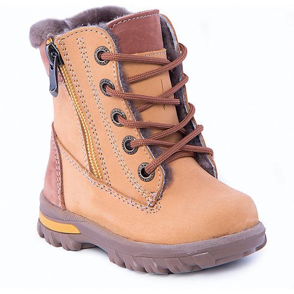 Ботинки для мальчика КотофейОбувь для малышей<br>Ботинки для мальчика от известного российского бренда Котофей<br><br>Стильные ботинки помогут защитить детские ножки от сырости и холода. Они легко надеваются, комфортно садятся по ноге.<br><br>Особенности модели: <br><br>- цвет - желтый;<br>- голенище полностью закрывает голеностоп;<br>- верх – натуральный нубук;<br>- комфортная колодка;<br>- подкладка утепленная;<br>- вид крепления – клеевой;<br>- защита пятки;<br>- амортизирующая устойчивая подошва;<br>- застежка - молния, шнуровка.<br><br>Дополнительная информация:<br><br>Температурный режим: <br><br>от 0° С до -25° С<br><br>Состав:<br>верх – натуральная кожа;<br>подкладка - овчина;<br>подошва - ТЭП.<br><br>Ботинки для мальчика Котофей можно купить в нашем магазине.<br>Ширина мм: 262; Глубина мм: 176; Высота мм: 97; Вес г: 427; Цвет: желтый; Возраст от месяцев: 18; Возраст до месяцев: 21; Пол: Мужской; Возраст: Детский; Размер: 23,24,21,22; SKU: 4315179;