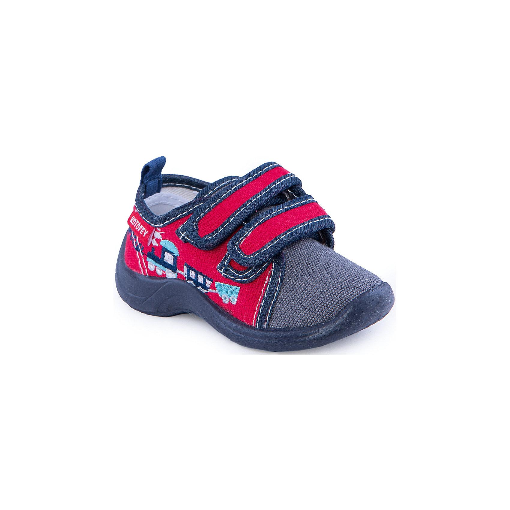 Ботинки для мальчика КотофейБотинки для мальчика от известного российского бренда Котофей<br><br>Легкие ботинки не только хорошо сидят на ноге - они легко надеваются благодаря удобной липучке. Эта модель создана с учетом особенностей развития детской стопы, поэтому все детали проработаны особенно тщательно.<br><br>Особенности модели: <br><br>- цвет - красный, синий;<br>- стильный дизайн;<br>- принт с паровозом;<br>- высокий задник;<br>- закрытый носок;<br>- супинатор;<br>- вид крепления – литьевой;<br>- амортизирующая подошва;<br>- застежка - липучка.<br><br>Дополнительная информация:<br><br>Температурный режим: <br><br>от +15° С до +25° С<br><br>Состав:<br>верх – текстиль;<br>подкладка - текстиль;<br>подошва - ПВХ.<br>Ботинки для мальчика Котофей можно купить в нашем магазине.<br><br>Ширина мм: 262<br>Глубина мм: 176<br>Высота мм: 97<br>Вес г: 427<br>Цвет: красный<br>Возраст от месяцев: 15<br>Возраст до месяцев: 18<br>Пол: Мужской<br>Возраст: Детский<br>Размер: 22,21,23,25,26,27,24<br>SKU: 4315243