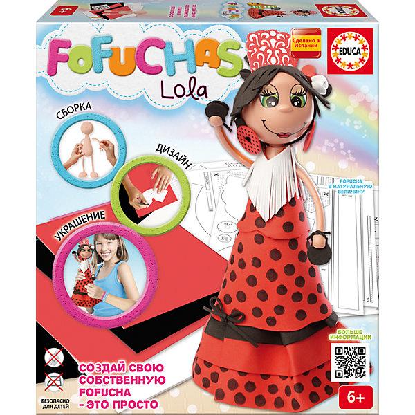 Набор для творчества в виде куклы Фофуча ЛолаБренды кукол<br>Набор для творчества в виде куклы Фофуча Лола – это набор в виде куклы в разобранном виде.<br>С помощью набора для творчества Фофуча Лола маленькие мастерицы смогут создать милую и симпатичную куколку Лолу. Слово Фофуча пришло из Бразилии и означает милая и симпатичная, так же называется и эти привлекательные куколки с длинными ногами и круглыми головами. Каждая Fofucha (Фофуча) так же уникальна, как и человек, ее создавший. Создать свою яркую, веселую, забавную и жизнерадостную Fofucha - это просто!<br><br>Дополнительная информация:<br><br>- В наборе: сборное тело куклы из пластика, 5 листов ЭВА, скотч, схемы, картонные детали, самоклеящиеся глаза и рот, инструкция<br>- Материал: пластик, ЭВА, картон, бумага, полимерный материал<br>- Не требуется утюга и клея.<br>- Упаковка: картонная коробка<br>- Размер упаковки: 330x290x70 мм.<br>- Вес: 644 гр.<br><br>Набор для творчества в виде куклы Фофуча Лола можно купить в нашем интернет-магазине.<br>Ширина мм: 335; Глубина мм: 295; Высота мм: 72; Вес г: 650; Возраст от месяцев: 72; Возраст до месяцев: 168; Пол: Женский; Возраст: Детский; SKU: 4316587;