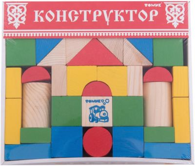 Конструктор Цветной 43 детали,Томик