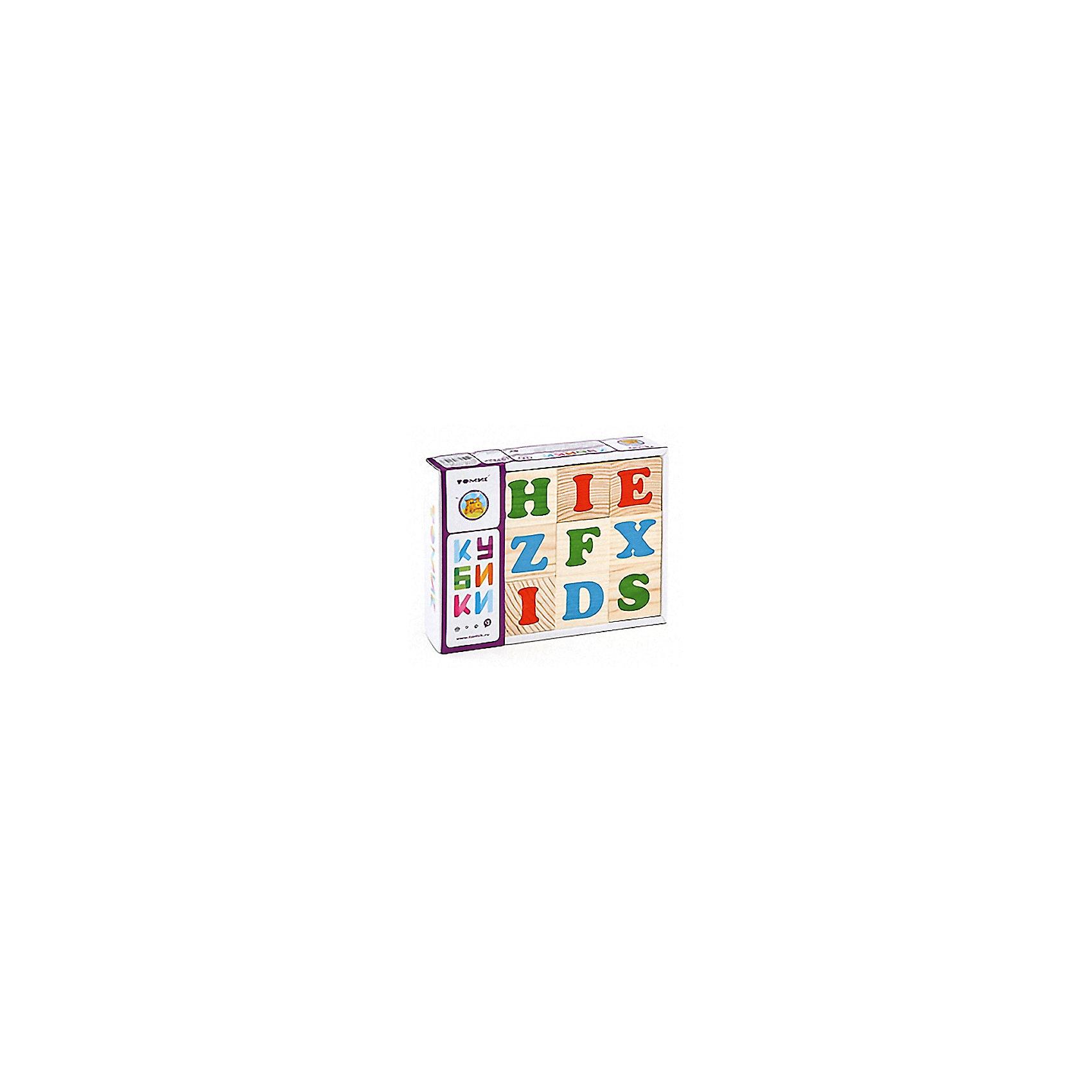 Кубики Алфавит английский, 12 штук,ТомикКубики<br>Кубики Алфавит английский, 12 штук, Томик – это замечательный набор деревянных кубиков, на которых изображены буквы английского алфавита.<br>С помощью этих кубиков ребенок познакомится с буквами английского алфавита, научится составлять из них слова. Кроме того из кубиков можно строить башни, дома, арки и многое другое. Небольшие размеры кубиков (грань 4 см) позволяют играть с ними даже самым маленьким. Кубики изготовлены из экологически чистого материала – древесины хвойных пород. Рисунки, нанесённые способом шелкографии — надёжны и долговечны. Кубики развивают логическое мышление, наглядно-образное мышление, память, мелкую моторику рук, внимание. Они станут хорошей подготовкой к школе.<br><br>Дополнительная информация:<br><br>- Количество кубиков: 12 шт.<br>- Размер кубика: 4 х 4 х 4 см.<br>- Материал: древесина<br>- Упаковка: картонная коробка<br>- Размер упаковки: 17 х 13 х 4 см.<br>- Вес: 424 гр.<br><br>Кубики Алфавит английский, 12 штук, Томик можно купить в нашем интернет-магазине.<br><br>Ширина мм: 170<br>Глубина мм: 130<br>Высота мм: 40<br>Вес г: 424<br>Возраст от месяцев: 36<br>Возраст до месяцев: 84<br>Пол: Унисекс<br>Возраст: Детский<br>SKU: 4317164
