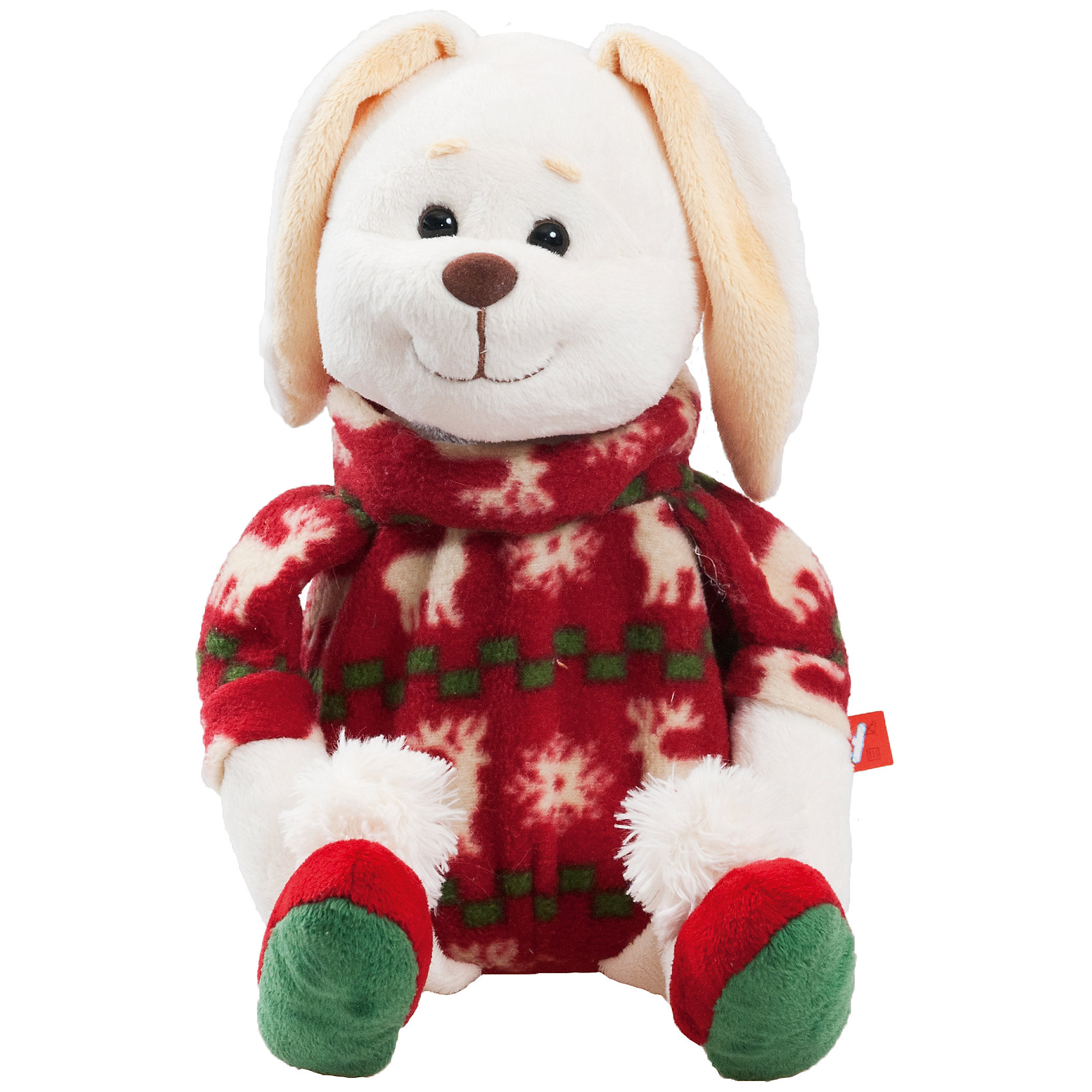 Мягкая игрушка Зайчик-грелка, FancyЗайцы и кролики<br>Мягкая игрушка Зайчик-грелка, Fancy<br><br>Характеристики игрушки:<br>- Состав: текстиль, зерна проса<br>- Размер: 22 см. <br>- Грелка<br>Мягкая игрушка Зайчик-грелка от популярного бренда мягких игрушек Fancy (Фэнси) станет отличным другом малыша. Зайчик изготовлен из безопасных материалов, не содержит мелких деталей и подходит детям от трех лет. Приятный зимний дизайн свитера зайки напоминает нам о зимних праздниках. Игрушка приятная  мягкая на ощупь, а функциональная грелка в виде вынимаемого мешочка с зернами проса, поможет оставаться в тепле в холодное время. Для этого нужно расстегнуть молнию и достать мешочек из игрушки, затем пометить его в микроволновую печь на одну минуту и вложить обратно в игрушку. Зерна проса являются натуральным наполнителем и способны быстро нагреваться и долго удерживать тепло. При желании можно поместить мешочек в морозильную камеру и наслаждаться прохладой в жаркое время года. После использования рекомендуется просушить мешочек и игрушку. Игрушка Зайчик-грелка также поможет развить воображение, навыки общения, моторику рук, а также тактильное и цветовое восприятие.   <br><br>Мягкую игрушку  Зайчик-грелка , Fancy (Фэнси) можно купить в нашем интернет-магазине.<br>Подробнее:<br>• Для детей в возрасте: от 3 до 8 лет <br>• Номер товара: 4318189<br>Страна производитель: Китай<br><br>Ширина мм: 170<br>Глубина мм: 210<br>Высота мм: 290<br>Вес г: 465<br>Возраст от месяцев: 36<br>Возраст до месяцев: 96<br>Пол: Унисекс<br>Возраст: Детский<br>SKU: 4318189