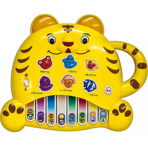 Пианино Тигренок, MOMMY LOVE-ELECTRONICПианино<br>Клавиши пианино Тигренок, MOMMY LOVE-ELECTRONIC помогут малышу выучить гамму. При нажатии на кнопки с изображением животных оно называет животного, воспроизводит его голос и проигрывает веселую мелодию. <br>В каком бы порядке не нажимал ребенок клавиши, у него в любом случае получится хорошая мелодия.<br>Имеется также режим игры: пианино просит ребенка найти животное. Показать, например, овечку или рыбку. Если с первого раза правильный ответ найти не получится – ничего! Игра повторит вопрос еще несколько раз. Ну а потом, в случае «полного провала», обязательно подскажет правильный ответ!<br>Пианино Тигренок, MOMMY LOVE-ELECTRONIC поможет ребенку быстро и легко усвоит простые образы животных, разовьет мелкую моторику, память, воображение, координацию движений.<br><br>Дополнительная информация:<br><br>Размер: 25x25x6 см; <br>Материал: пластик; <br>Питание: 3 батарейки АА;<br><br>Пианино Тигренок, MOMMY LOVE-ELECTRONIC можно купить в нашем магазине.<br><br>Ширина мм: 250<br>Глубина мм: 55<br>Высота мм: 250<br>Вес г: 410<br>Возраст от месяцев: 0<br>Возраст до месяцев: 36<br>Пол: Унисекс<br>Возраст: Детский<br>SKU: 4318190
