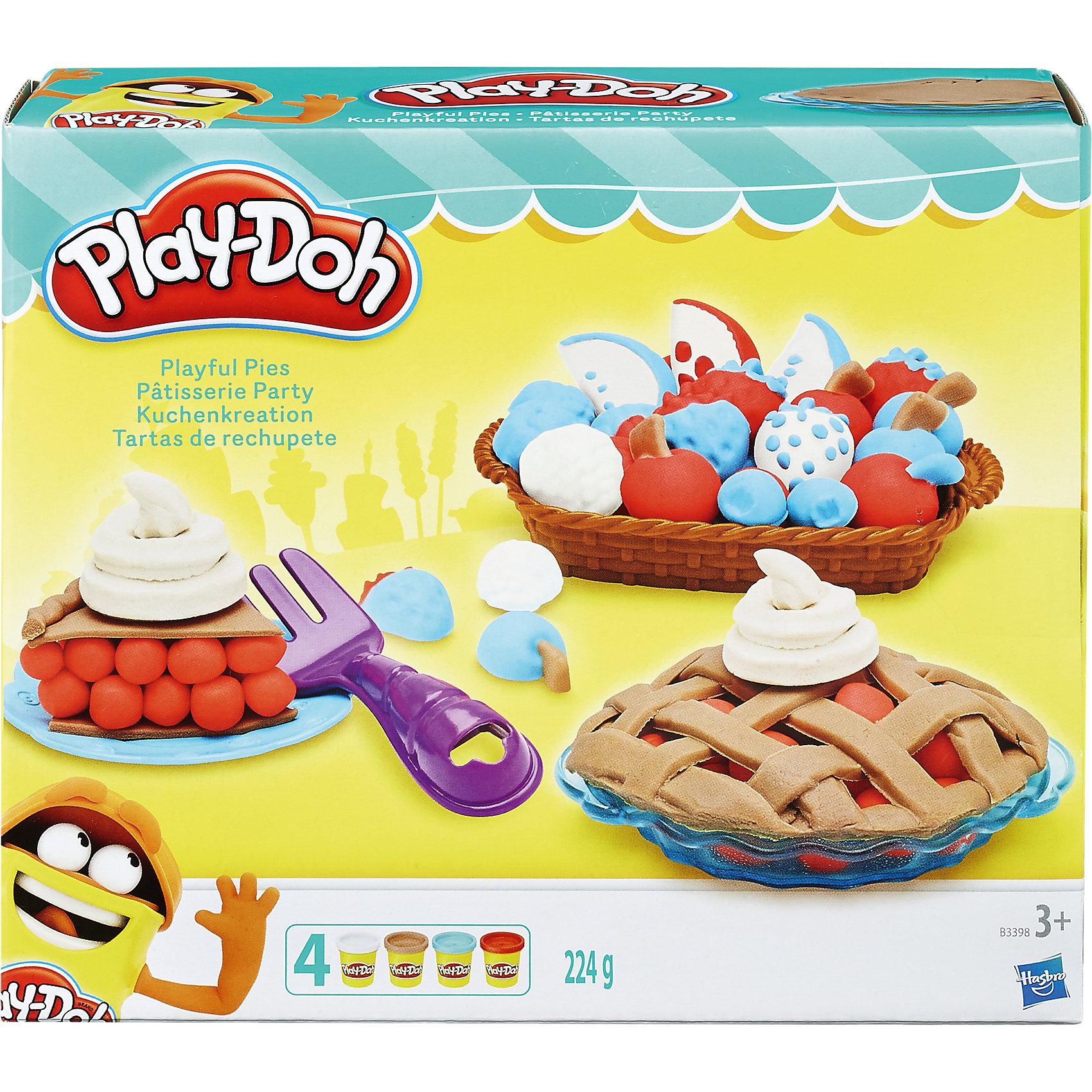 Игровой набор Ягодные тарталетки, Play-DohЛепка<br>Игровой набор Ягодные тарталетки, Play-Doh, превратит лепку в веселую увлекательную игру. Ваш ребенок сможет попробовать себя в роли искусного кондитера и приготовить аппетитные тарталетки с ягодами. Для этого в наборе есть все необходимое: баночки с массой для лепки, совок, вилка, дозатор, тарелочки для пирожных и корзинка с фигурным дном. Набор позволяет воплотить все свои фантазии и создавать неповторимые кулинарные шедевры - красивые торты, пирожные с фруктами или ягодные пироги. Пластилин Play-Doh отличается высоким качеством, безопасен для детей, легко разминается, не липнет к рукам и не пачкает одежду. Занятия лепкой развивают у ребенка фантазию, творческие способности и объемное воображение, тренируют координацию движений и мелкую моторику.<br><br>Дополнительная информация:<br><br>- В комплекте: 4 баночки пластилина Play-Doh ( белый, оранжевый, песочный и голубой), аксессуары (2 тарелочки, вилка, дозатор, совочек, корзинка с формами для создания сладостей).<br>- Размер упаковки: 20 х 6 х 18 см.<br>- Вес: 0,224 кг.<br><br>Игровой набор Ягодные тарталетки, Play-Doh (Плей-До), можно купить в нашем интернет-магазине.<br><br>Ширина мм: 210<br>Глубина мм: 180<br>Высота мм: 62<br>Вес г: 451<br>Возраст от месяцев: 36<br>Возраст до месяцев: 72<br>Пол: Женский<br>Возраст: Детский<br>SKU: 4319031