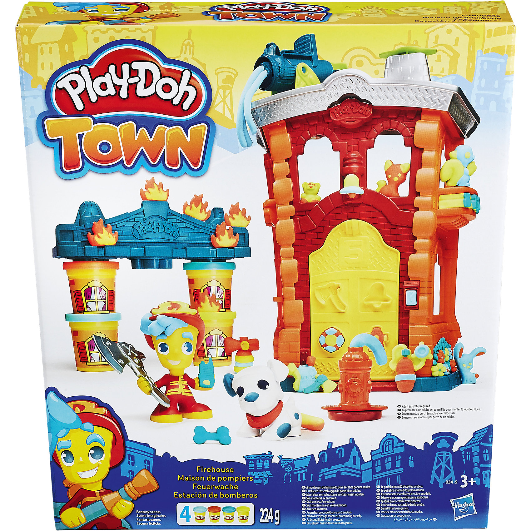 Hasbro Игровой набор Пожарная станция, Город, Play-Doh hasbro play doh b5517 игровой набор из 4 баночек в ассортименте обновлённый