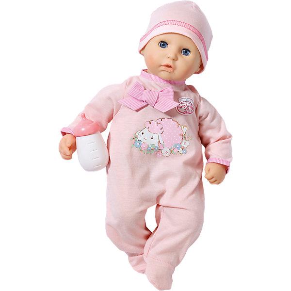 Кукла с бутылочкой, 36 см, my first Baby AnnabellКуклы<br>Кукла с бутылочкой, 36 см, my first Baby Annabell<br><br>Характеристики:<br><br>• В набор входит: кукла, одежда, бутылочка<br>• Состав: пластик, текстиль<br>• Высота куклы: 36 см.<br>• Размер упаковки: 31 * 16,5 * 20 см.<br>• Для детей в возрасте: от 1 года<br>• Страна производитель: Китай<br><br>Кукла с любопытством смотрит на мир своими голубыми глазками, её милый ротик приоткрыт от удивления. Моя первая Бэби Аннабель хочет изучать мир вместе со своей мамой и быть окружённой нежной заботой. Конечно же, в набор входит её бутылочка для кормления и первый наряд. <br><br>Розовый комбинезончик с овечкой и нежным бантиком выполнен в соответствии с технологией easy on+off, которая позволяет даже самым маленьким ручкам снимать и одевать комбинезончик. Маленькая «первая модель» куколки размером в 36 см. оснащена мягким телом и безопасна для малышей. Бутылочка изготовлена из безопасного пластика и не имеет острых краев.<br><br>Куклу с бутылочкой, 36 см, my first Baby Annabell можно купить в нашем интернет-магазине.<br><br>Ширина мм: 322<br>Глубина мм: 213<br>Высота мм: 170<br>Вес г: 574<br>Возраст от месяцев: 12<br>Возраст до месяцев: 36<br>Пол: Женский<br>Возраст: Детский<br>SKU: 4319341