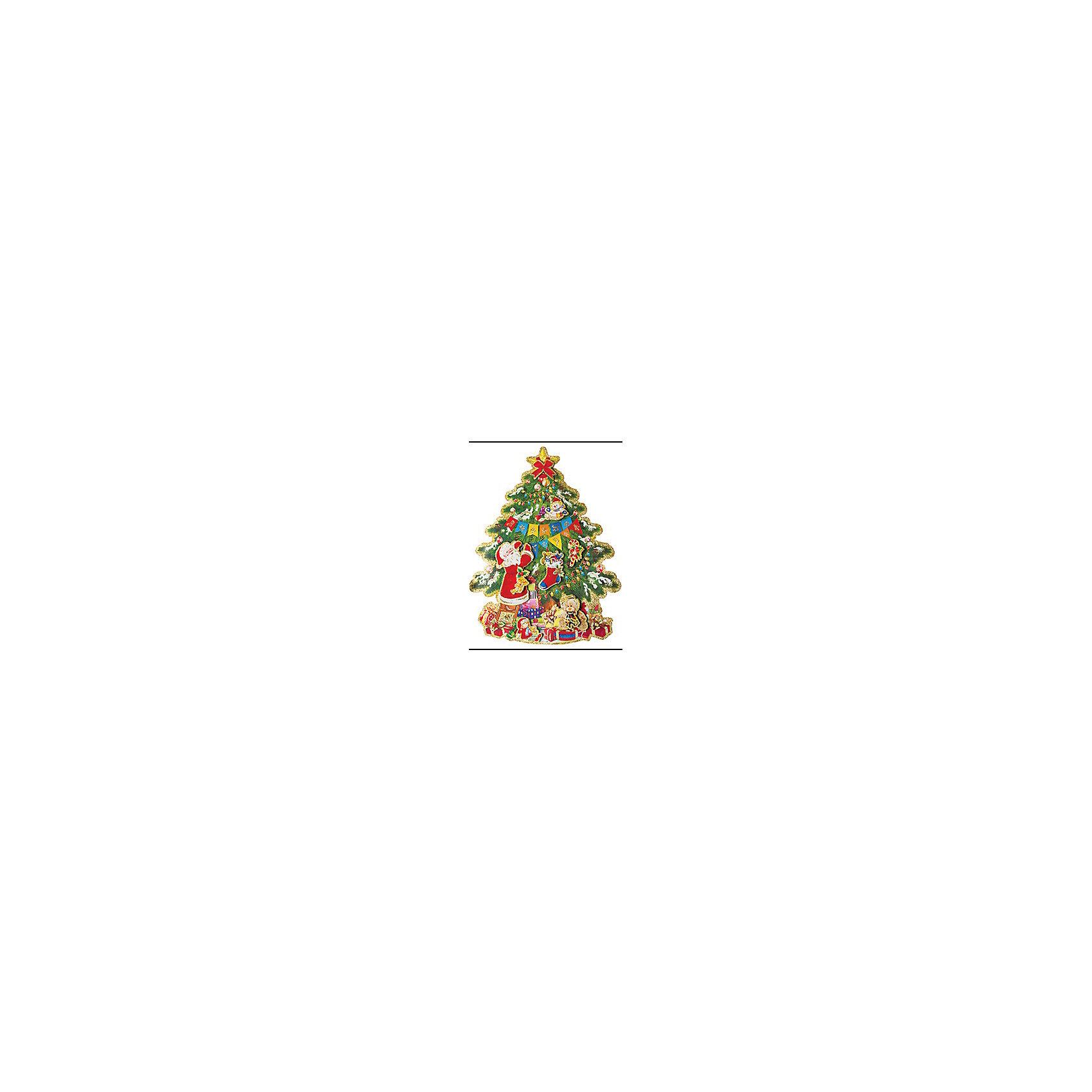 Наклейка 3D Новогодняя елочкаВсё для праздника<br>Наклейка 3D Новогодняя елочка – этот новогодний аксессуар создаст праздничную атмосферу.<br>Наклейка 3D Новогодняя елочка  – это отличное новогоднее украшение для декорирования стен и дверей. Объемная наклейка в виде нарядной новогодней елки поможет украсить ваш дом или офис и придаст им сказочный и волшебный вид. Устройте настоящий праздник. Пусть он сопровождает вас повсюду.<br><br>Дополнительная информация:<br><br>- Размер упаковки: 41 х 31 см.<br>- Вес: 50 гр.<br><br>Наклейку 3D Новогодняя елочка можно купить в нашем интернет-магазине.<br><br>Ширина мм: 410<br>Глубина мм: 310<br>Высота мм: 5<br>Вес г: 50<br>Возраст от месяцев: 36<br>Возраст до месяцев: 2147483647<br>Пол: Унисекс<br>Возраст: Детский<br>SKU: 4319561