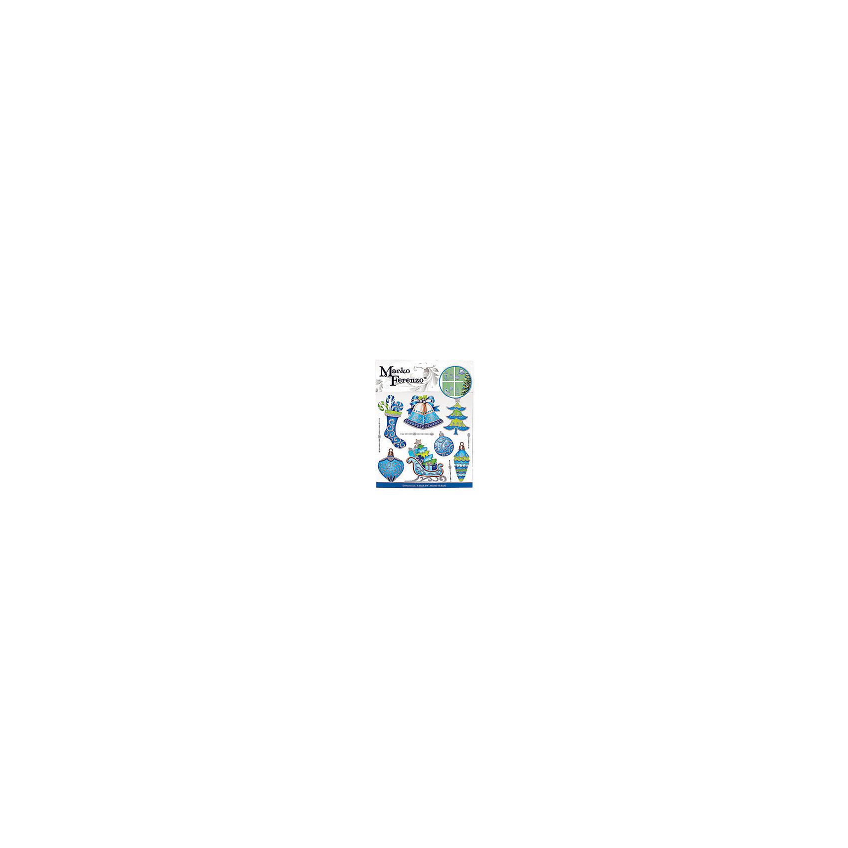 Наклейка Новогодние украшенияВсё для праздника<br>Наклейка Новогодние украшения – этот новогодний аксессуар создаст праздничную атмосферу.<br>Наклейка Новогодние украшения от Marko Ferenzo (Марко Ферензо) – это отличное украшение для декорирования стен, дверей и мебели. Наклейка поможет украсить ваш дом или офис и придаст им сказочный и волшебный вид. Устройте настоящий праздник. Пусть он сопровождает вас повсюду. Торговая марка «Marko Ferenzo» (Марко Ферензо) – это стиль, красочность, оригинальность и качество, которому можно доверять!<br><br>Дополнительная информация:<br><br>- Размер упаковки: 24x18,5 см.<br>- Вес: 34 гр.<br><br>Наклейку Новогодние украшения можно купить в нашем интернет-магазине.<br><br>Ширина мм: 240<br>Глубина мм: 185<br>Высота мм: 3<br>Вес г: 34<br>Возраст от месяцев: 36<br>Возраст до месяцев: 2147483647<br>Пол: Унисекс<br>Возраст: Детский<br>SKU: 4319564